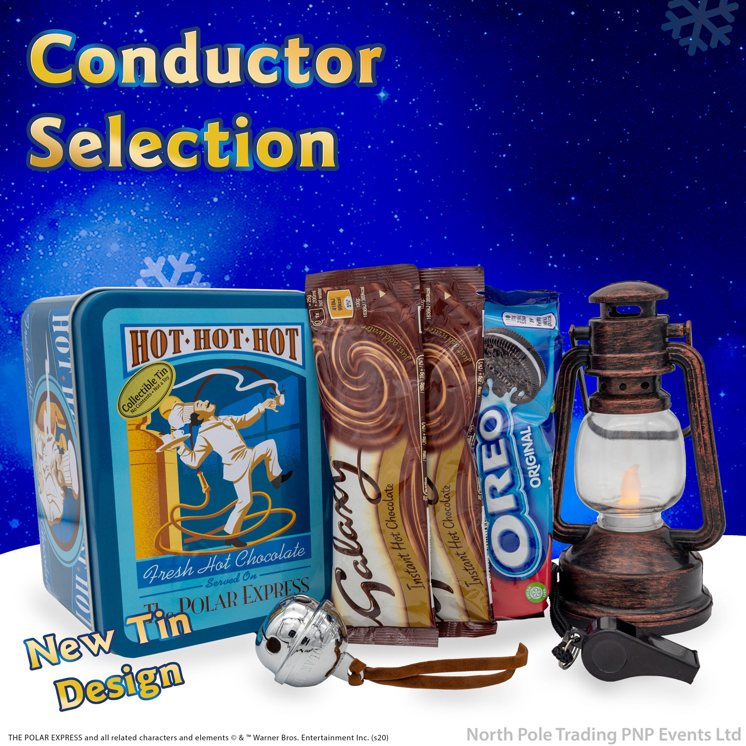 Selection Tin Conductor -  With Free Gift Of THE POLAR EXPRESS™ Silver Sleigh Bell