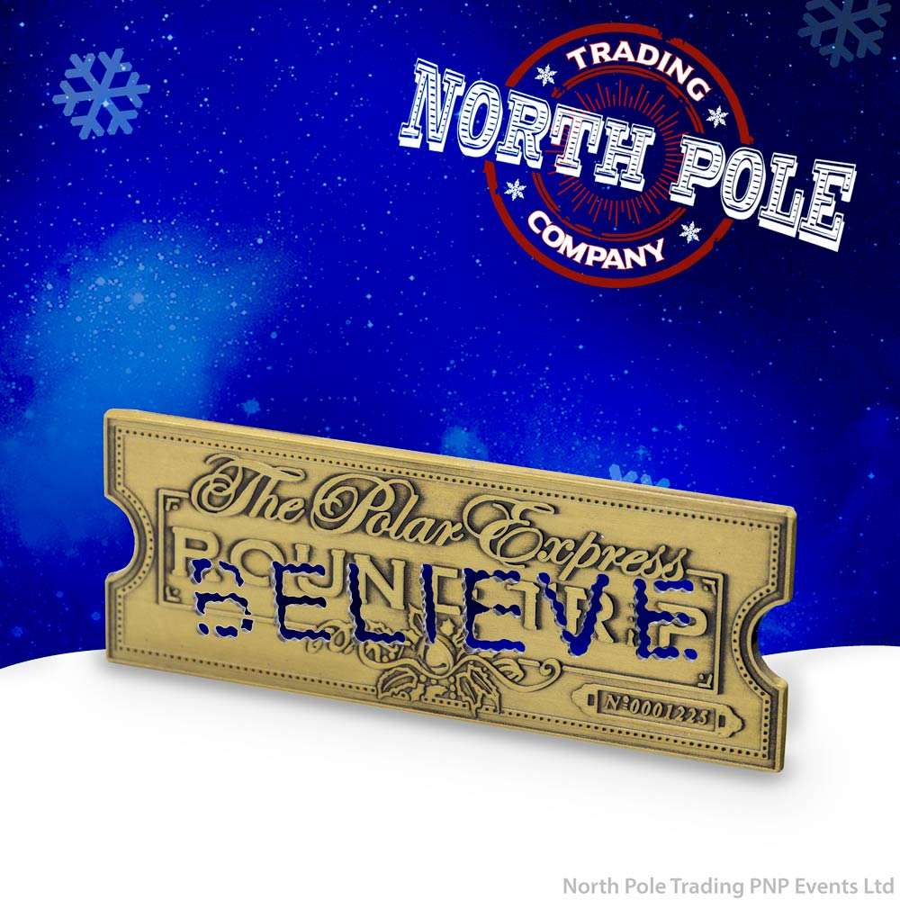 THE POLAR EXPRESS™ Golden Ticket Metal Magnet