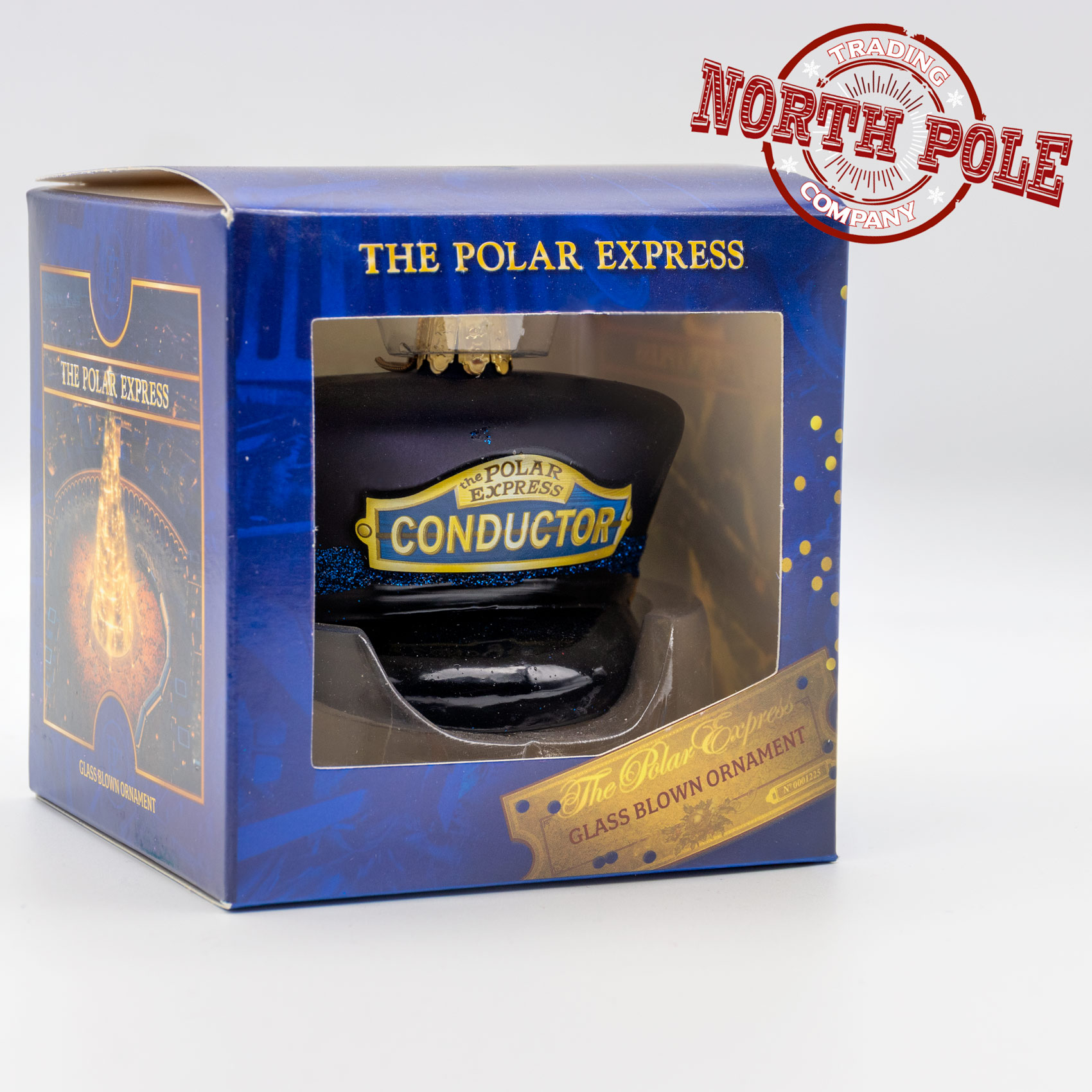 THE POLAR EXPRESS™ Conductor Hat Glass Bauble