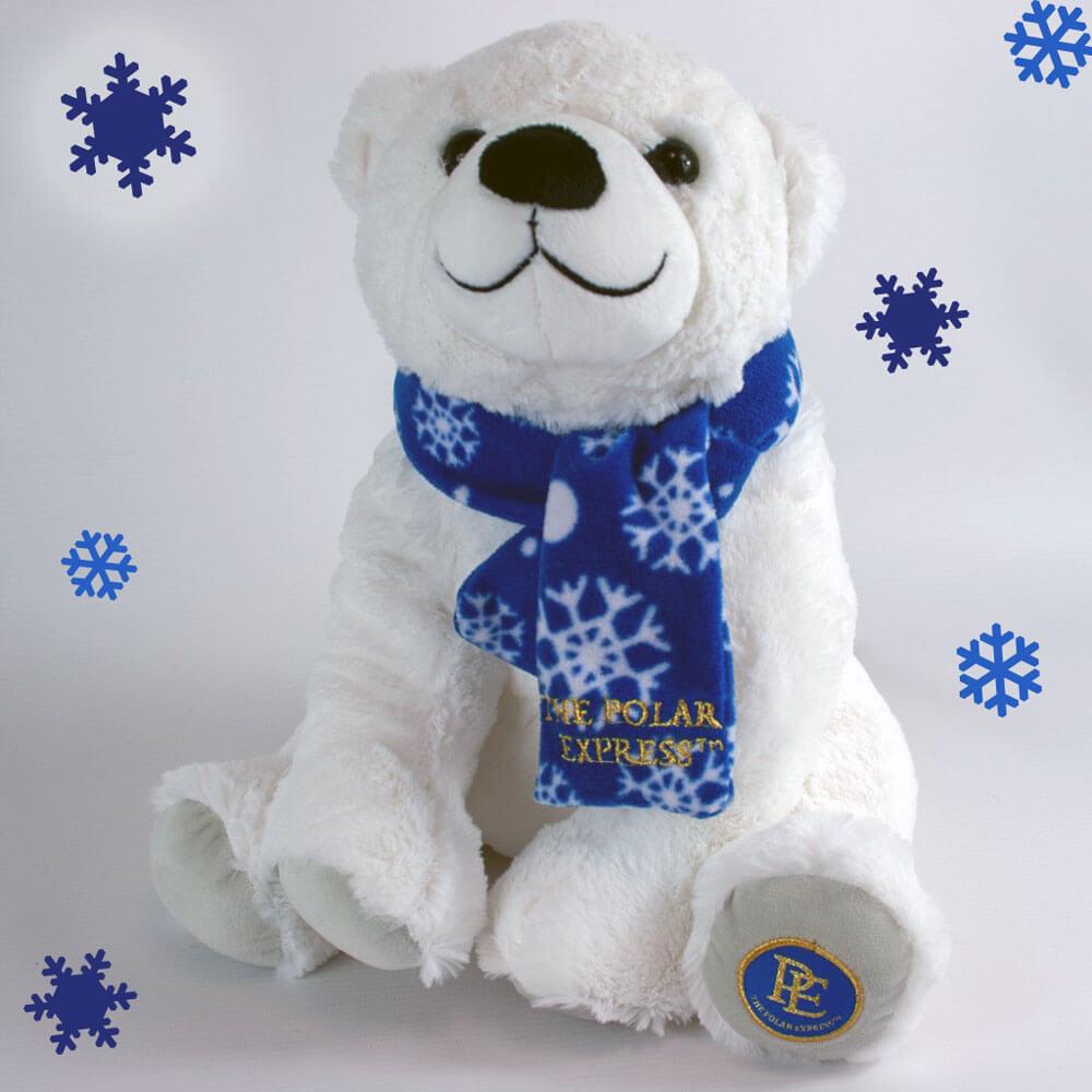 THE POLAR EXPRESS™ Polar Bear with blue snowflake scarf