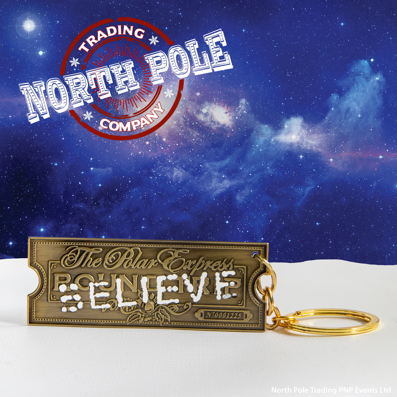 THE POLAR EXPRESS™ Golden Ticket (Believe) Keychain