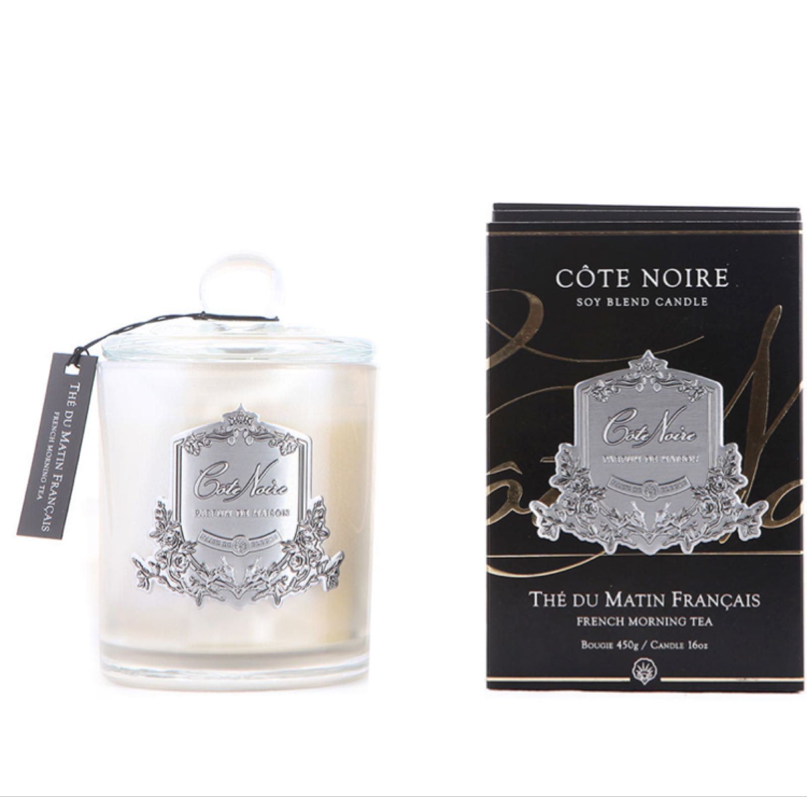 Cote noire French morning tea soy candle 75g