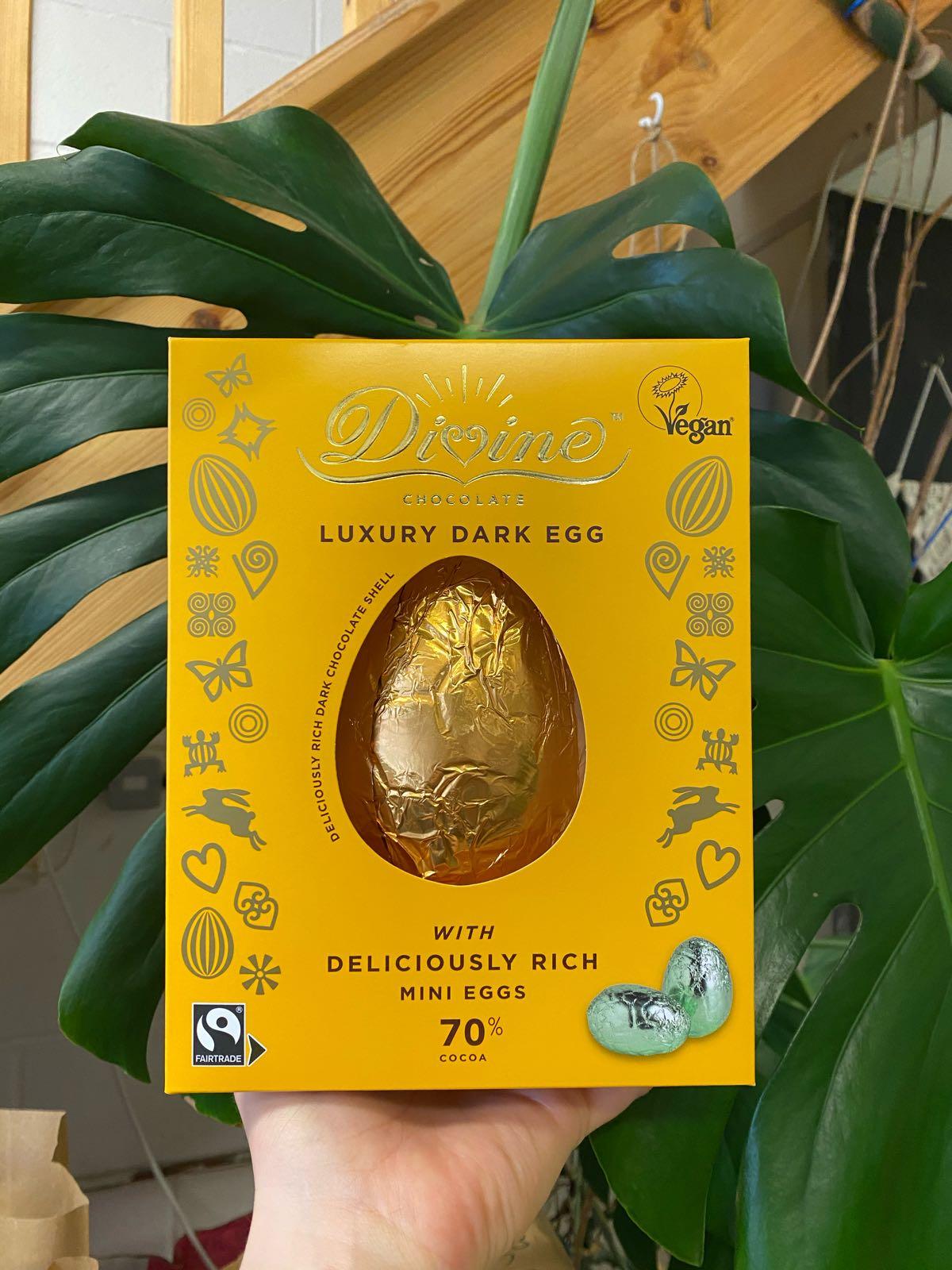 Dark Chocolate Egg & Mini Eggs | Divine