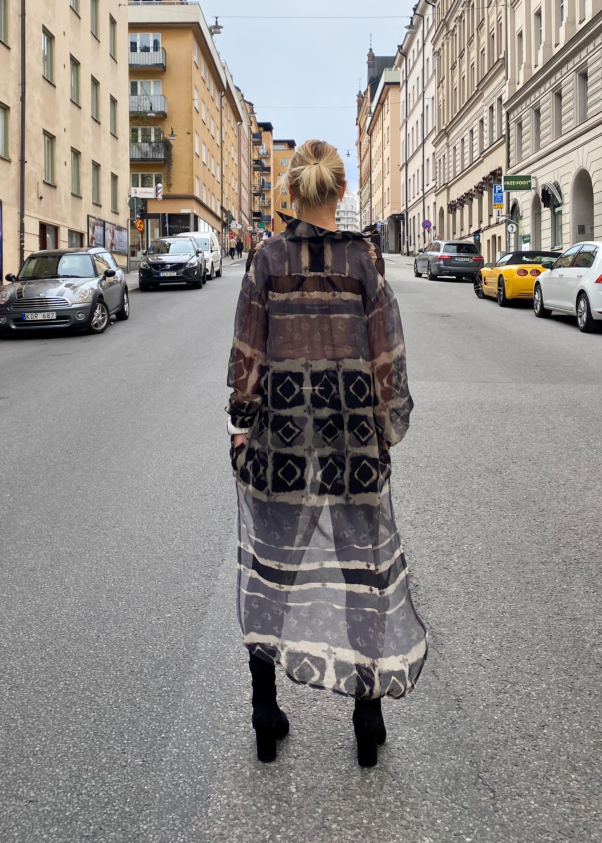 Linn skjortklänning