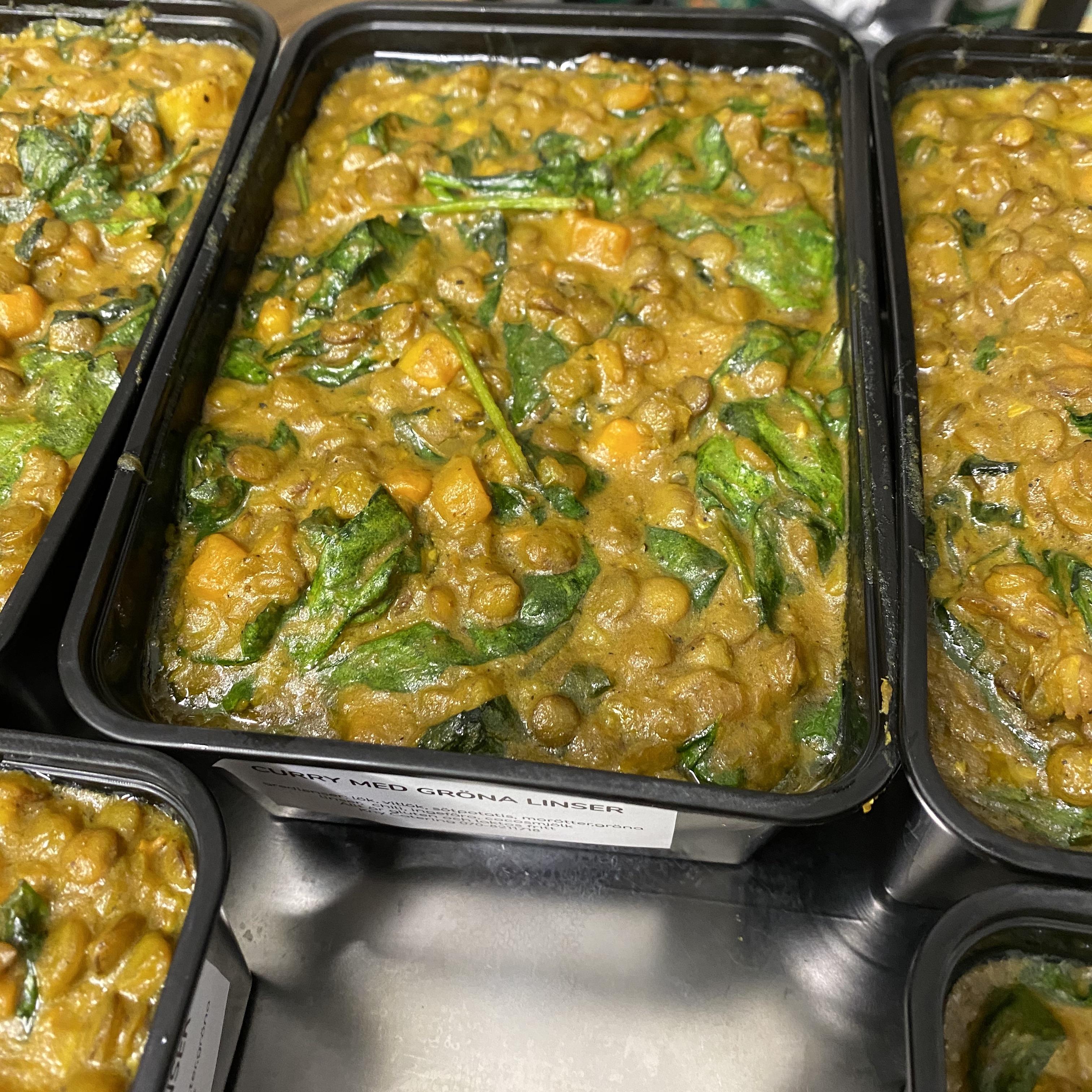 Curry med gröna linser