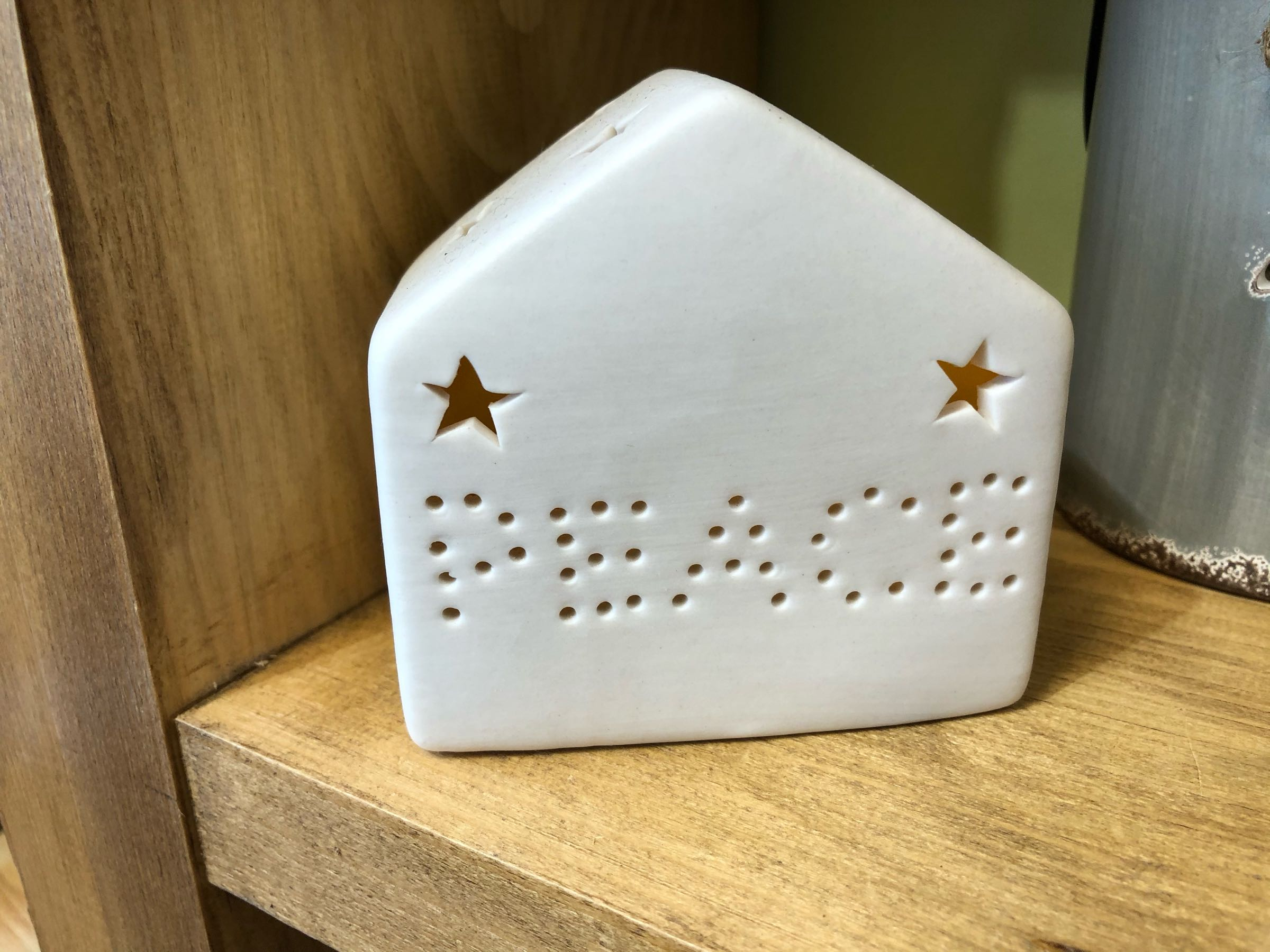 Ceramic peace led house