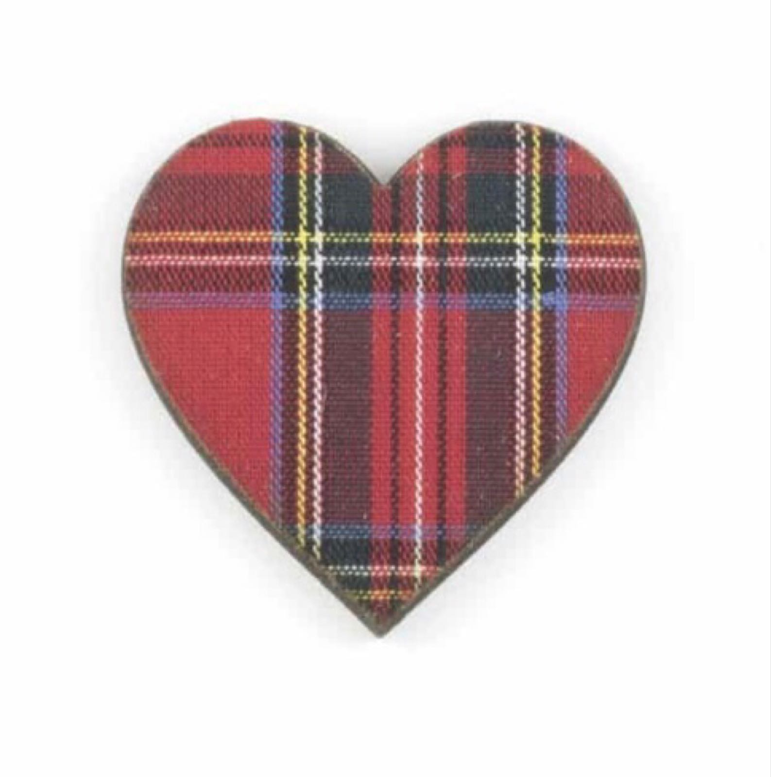 Brooch Heart - Royal Stewart