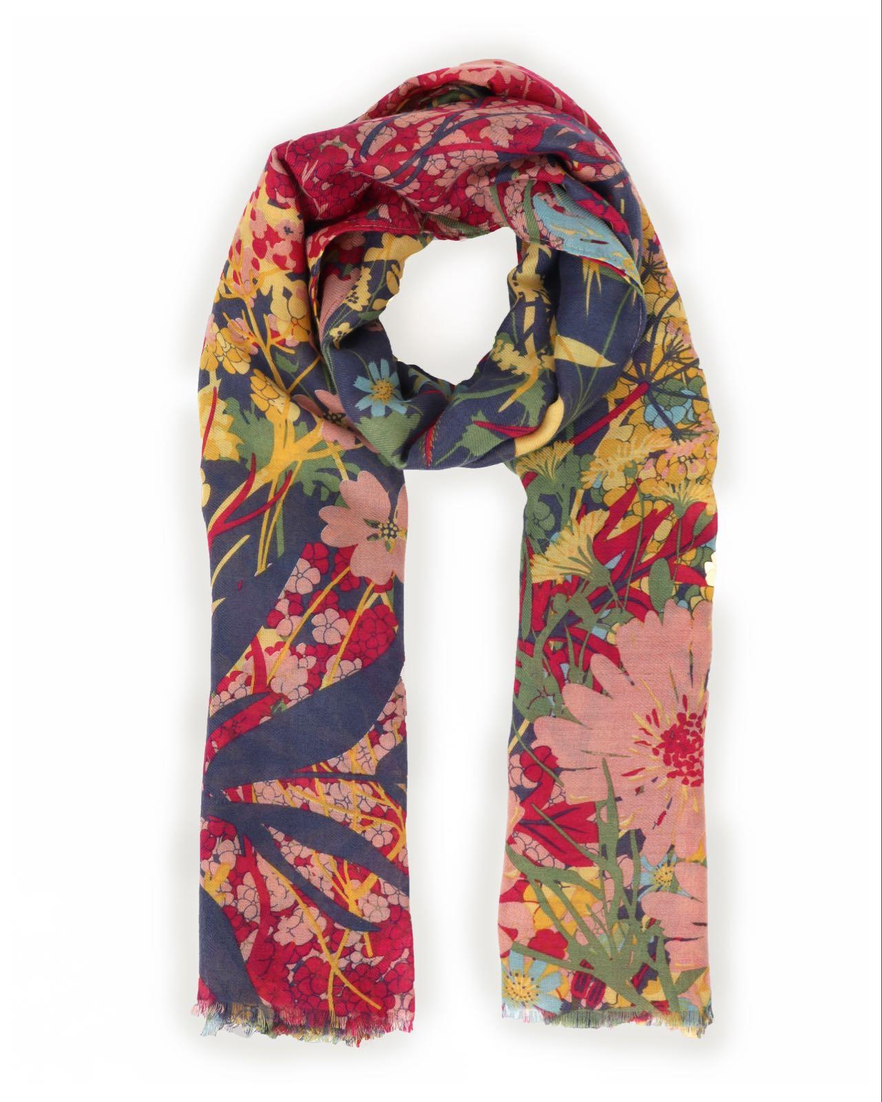 Powder Cottage garden scarf