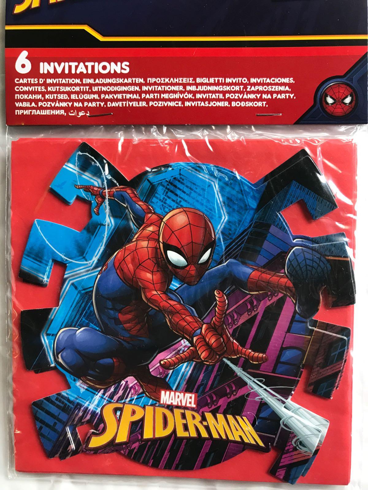 Spider-Man kalas inbjudningar