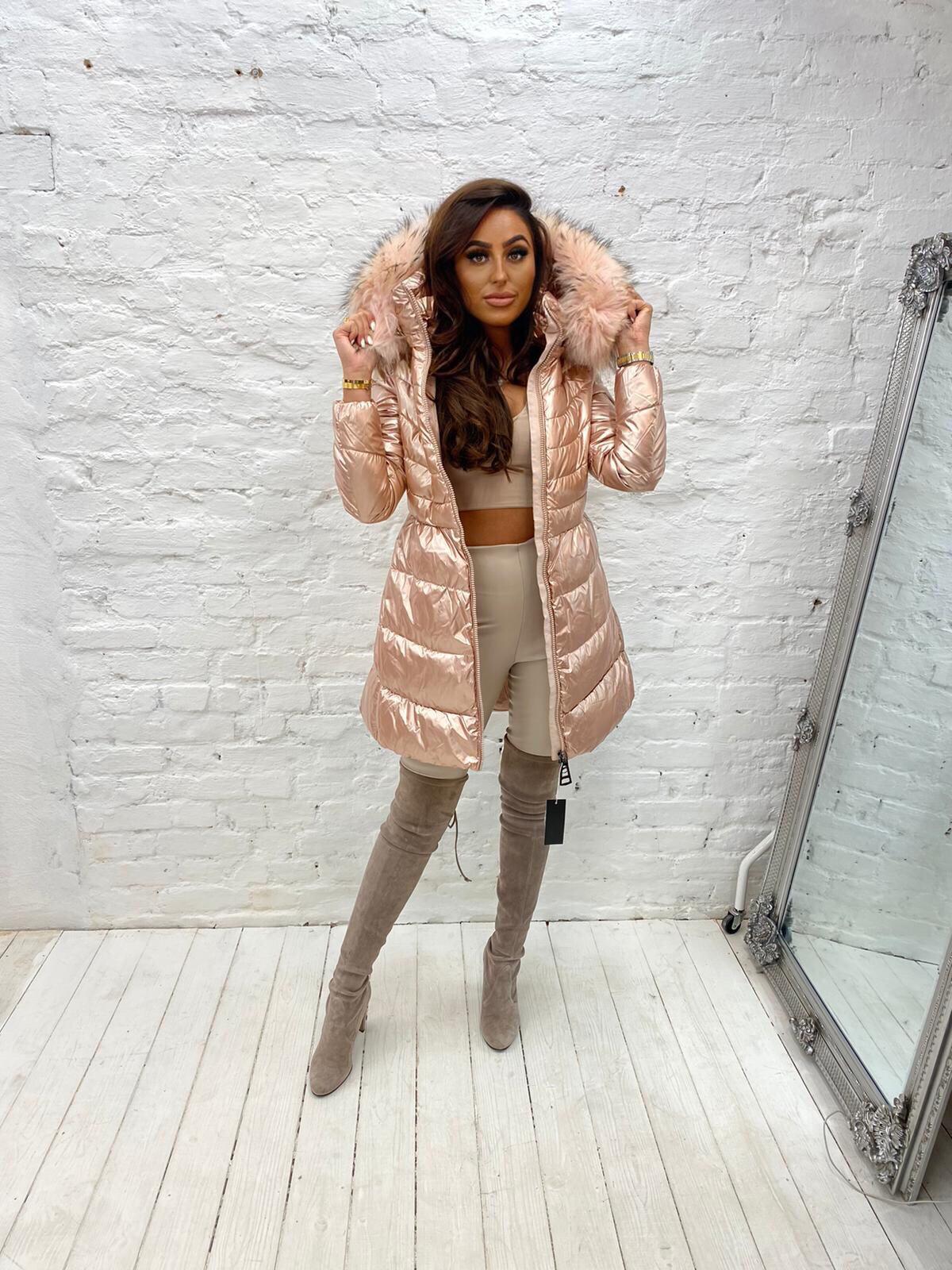 Laura Jane Paris 'Chamonix' Fox Fir coat (Blush with blush)