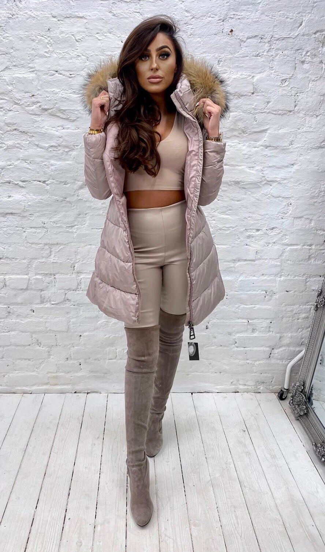 Laura Jane Paris ' Chamonix' for fur coat beige with natural