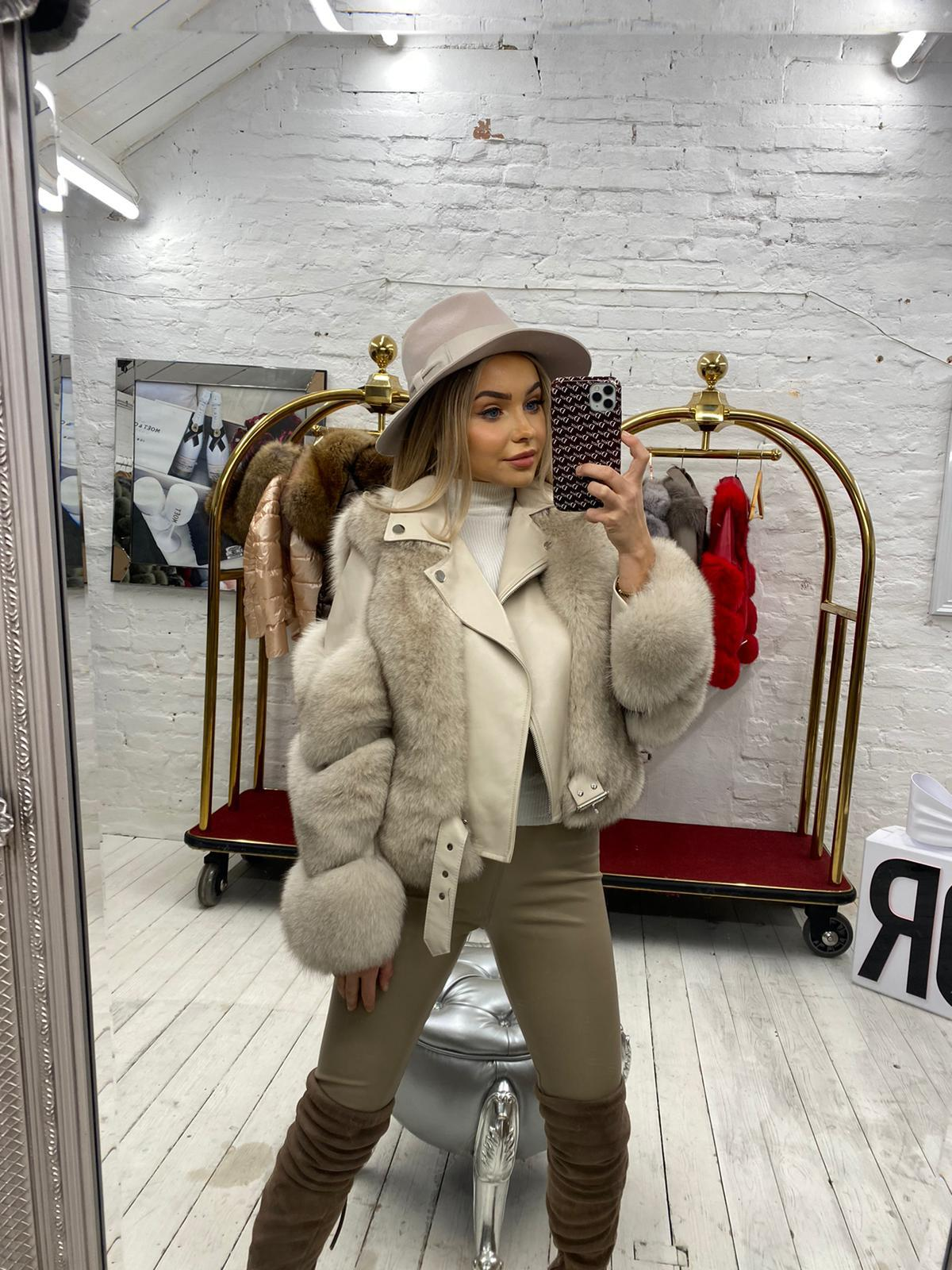 'Niamh' Laura Jane Paris jacket in Tan and Tan