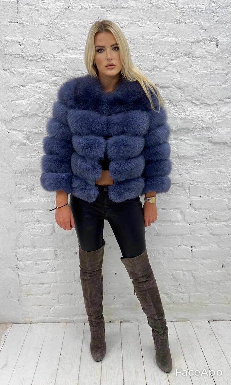 Laura Jane Paris Fox Coat Wild Blue