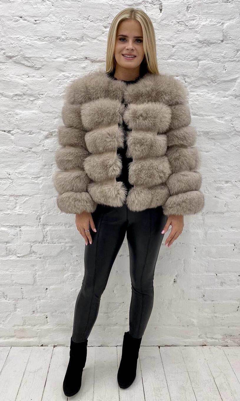 Laura Jane Paris Fox Coat Camel