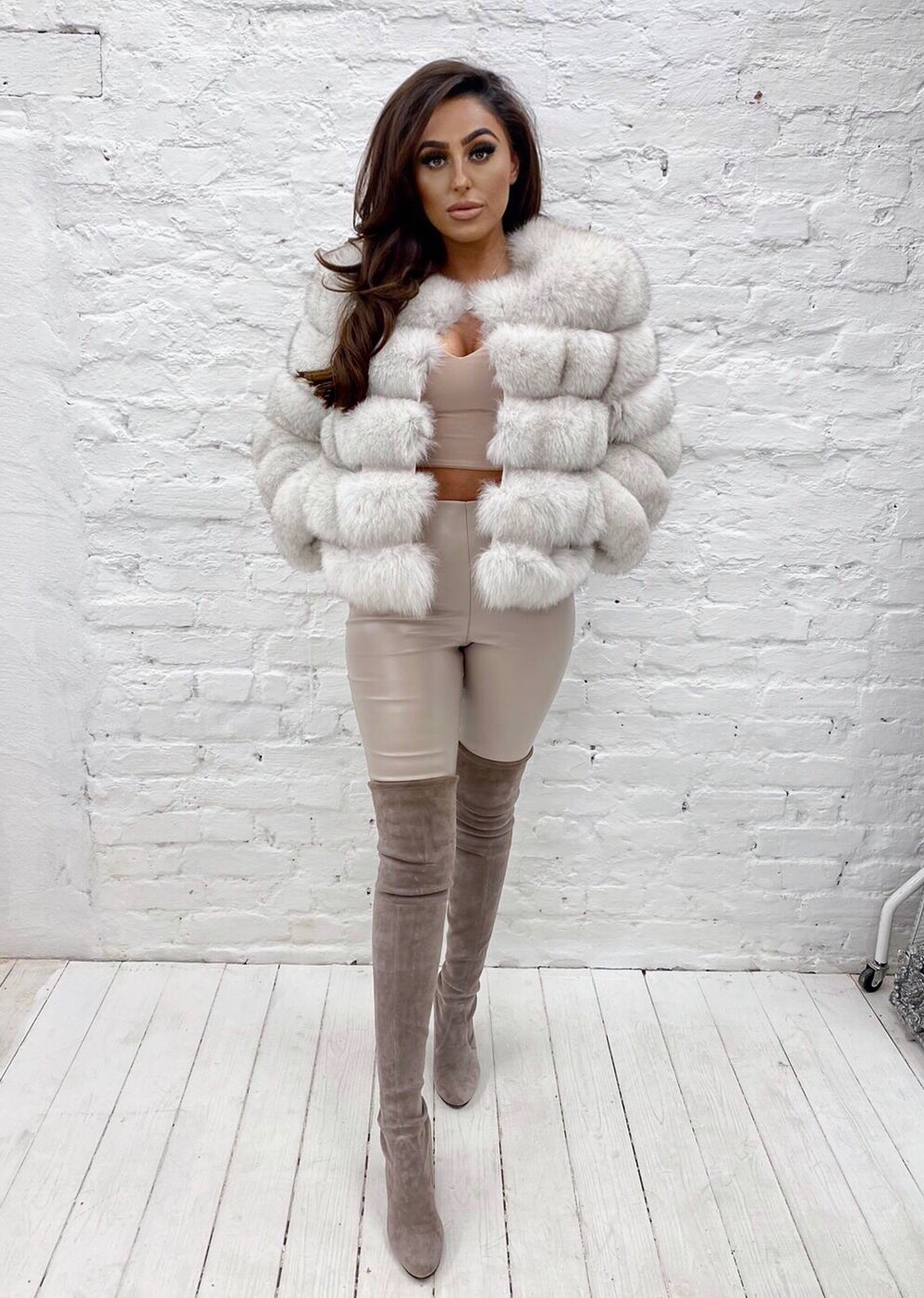 Laura Jane Paris Fox Fur Coat in royal silver fox