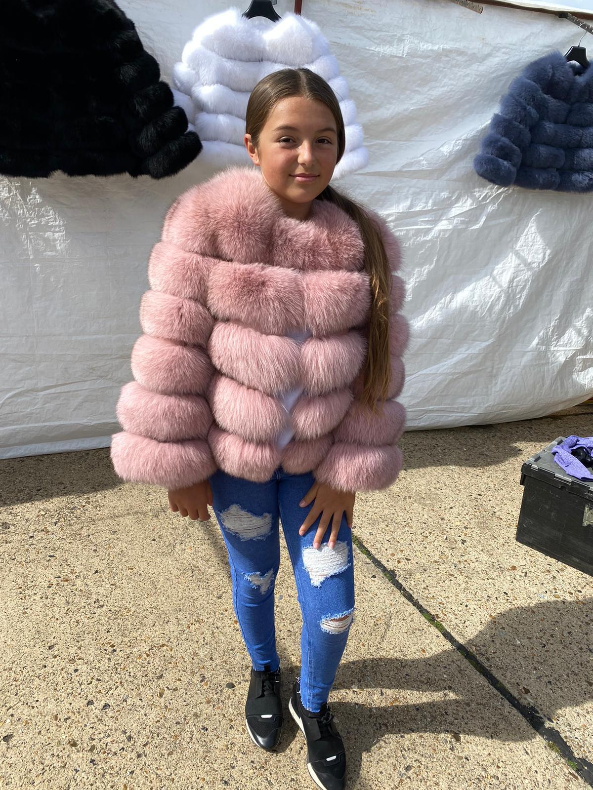 Children Laura Jane Paris Fox Fur Coat