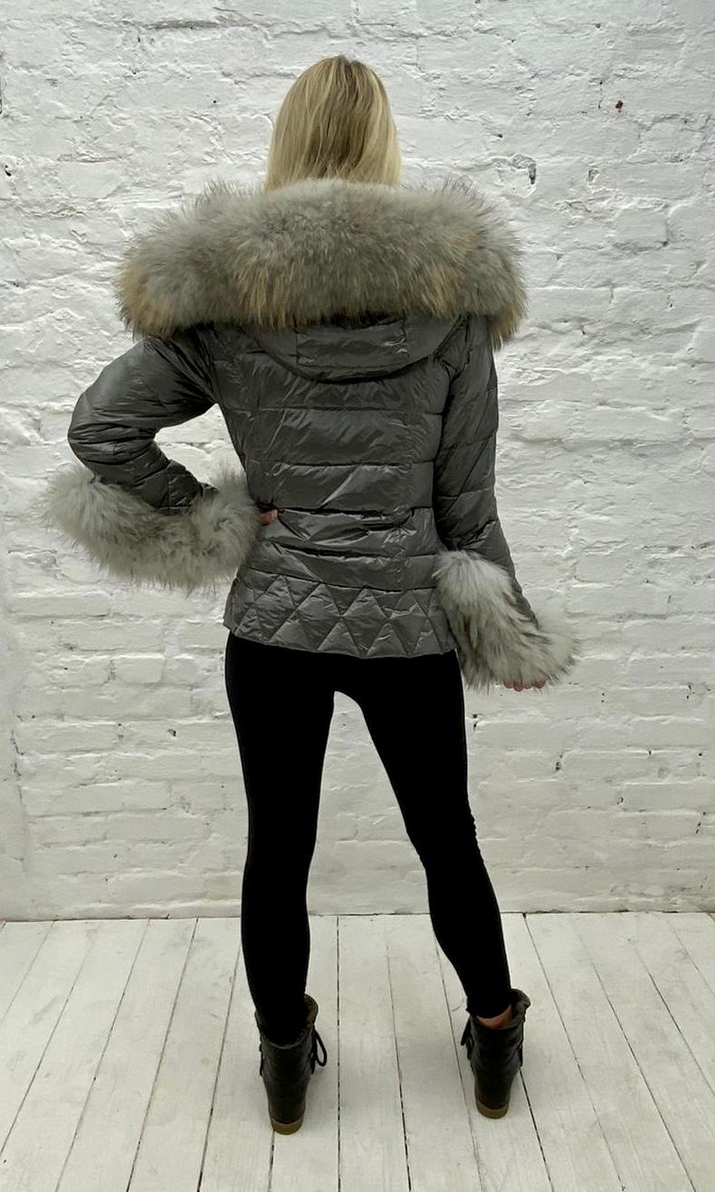 Laura Jane Paris Luxury Fox Fur Down Coat, G/G