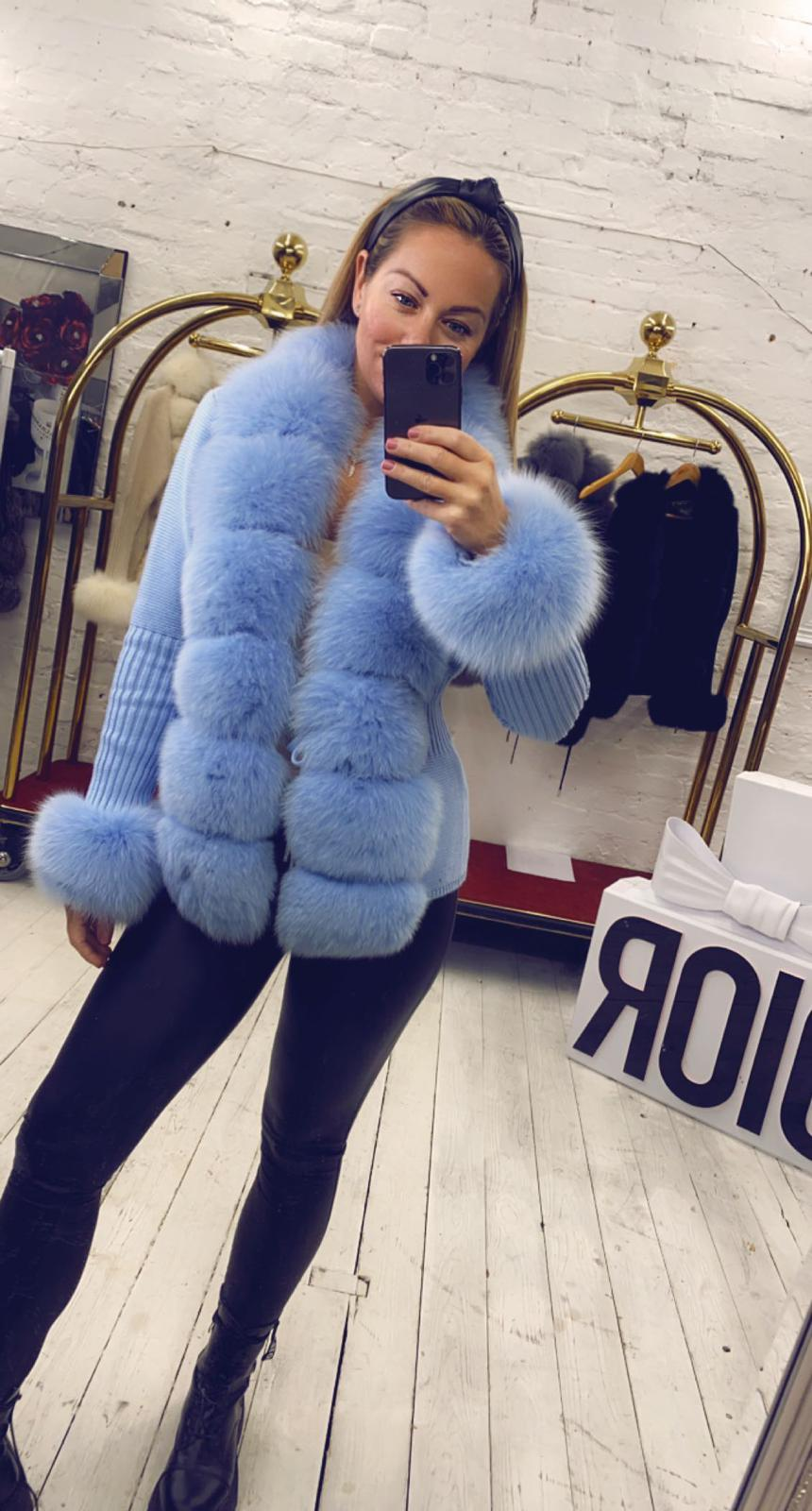 Laura Jane Paris 'Oxford Street' cardigan in royal blue