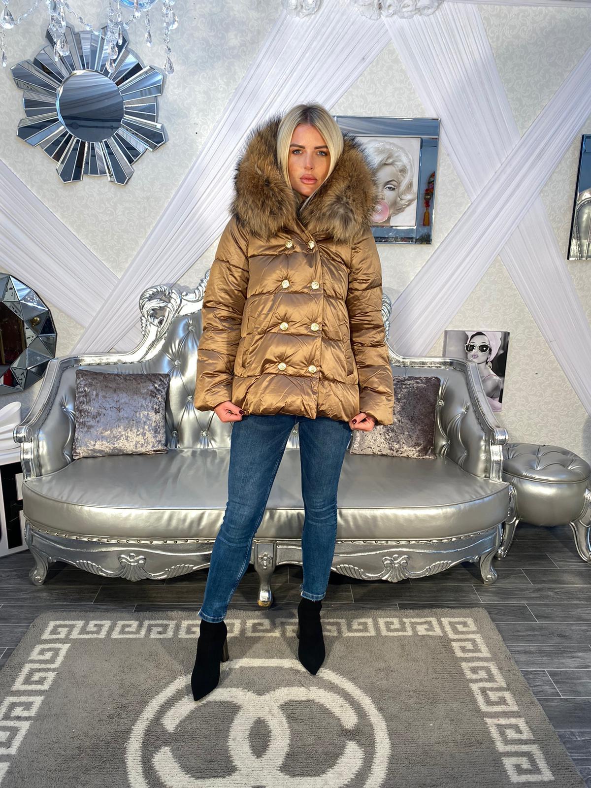 Laura Jane Paris 'Everest' Coat Bronze with natural