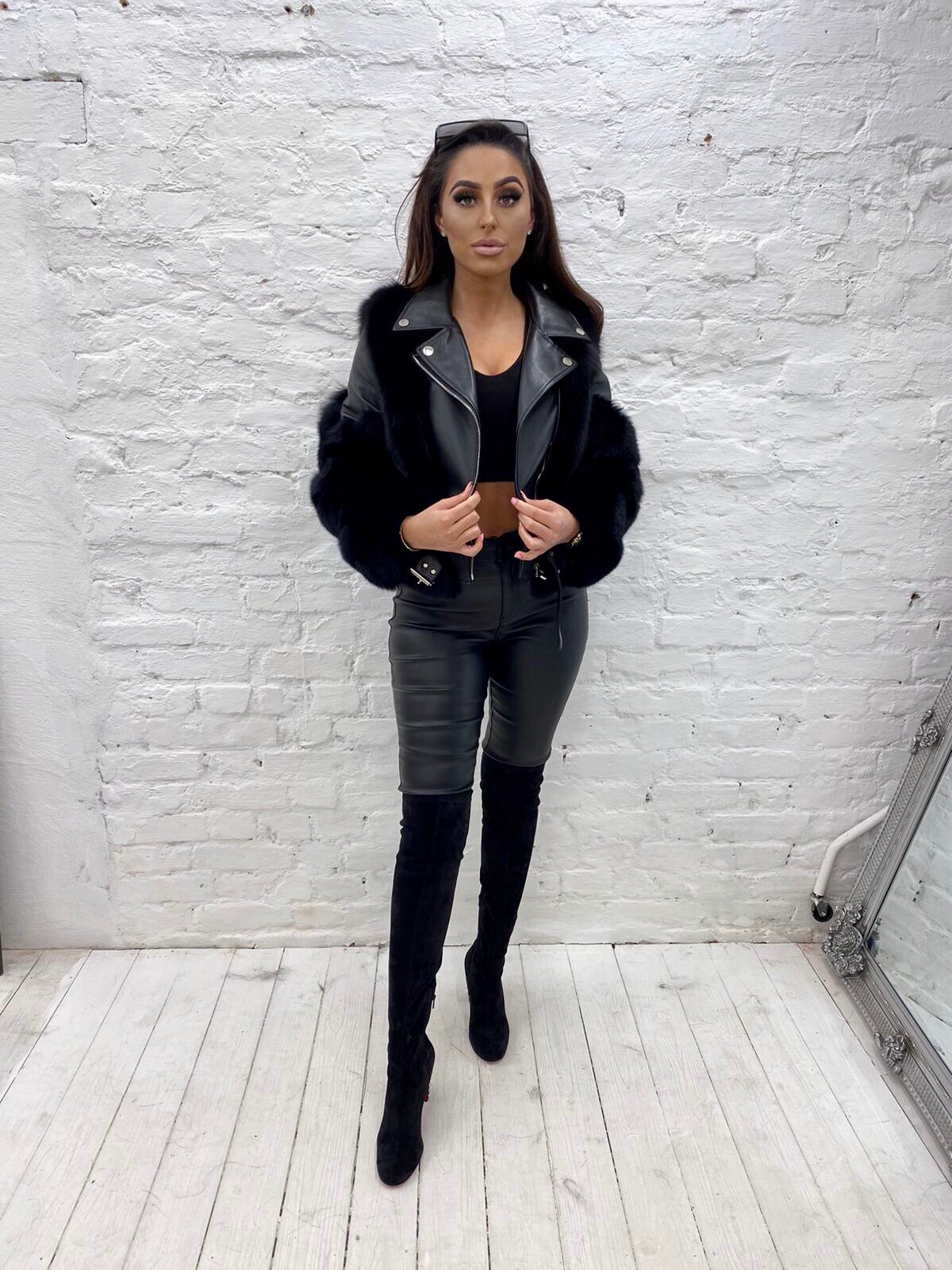 Laura Jane Paris 'Bond Street' Leather jacket Black