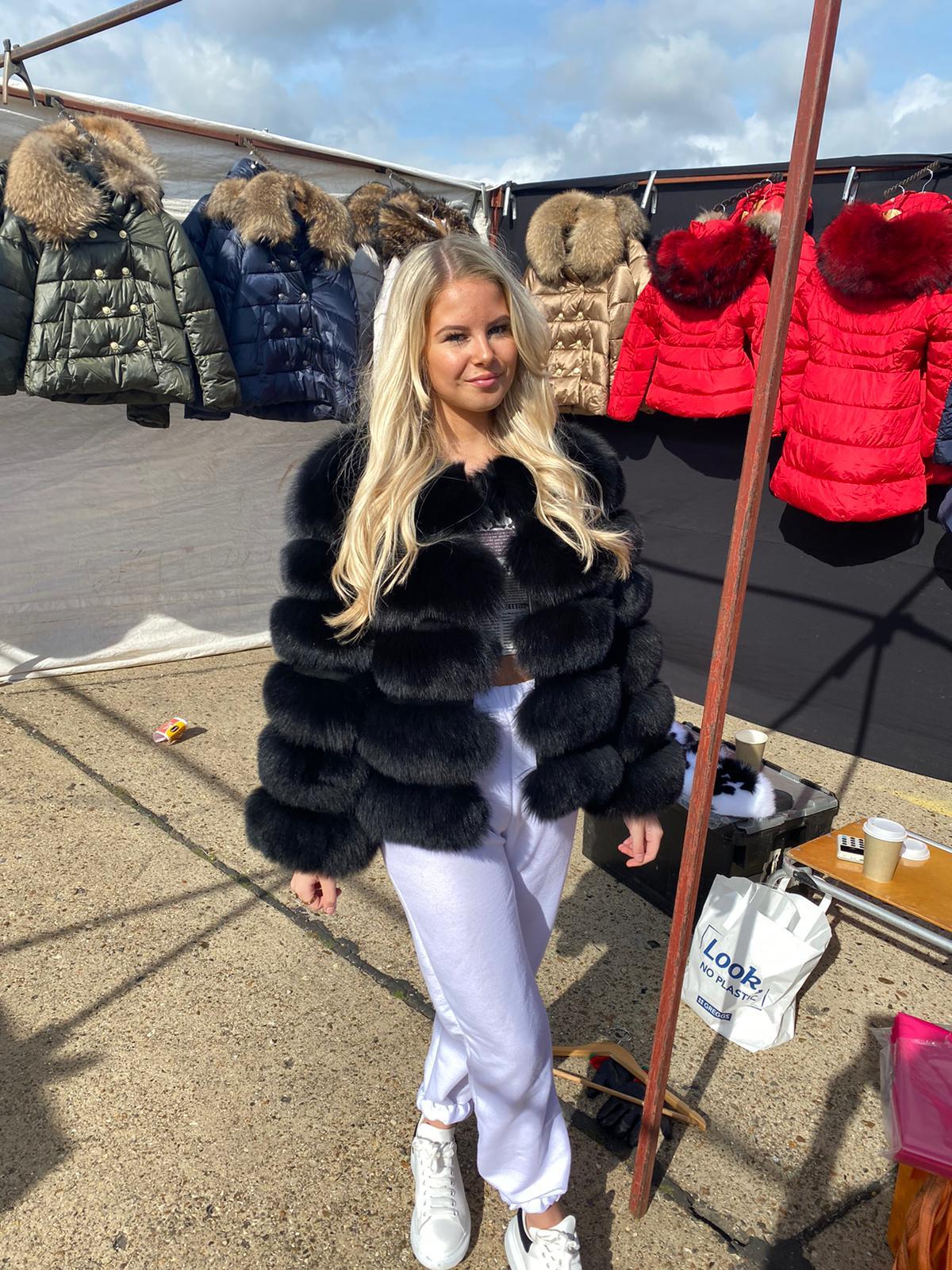 Laura Jane Paris Fox Coat Black