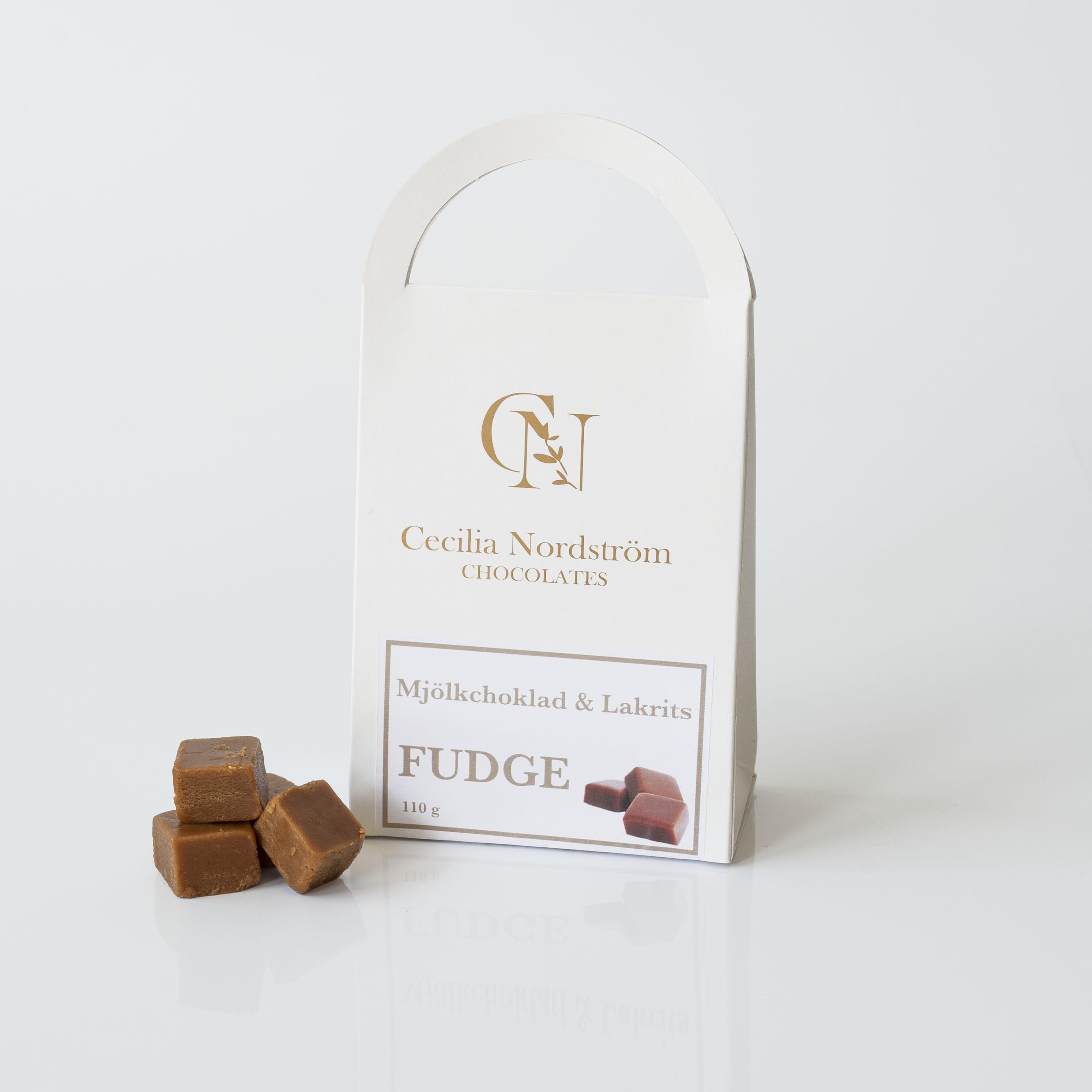 Mjölkchoklad & Lakrits Fudge