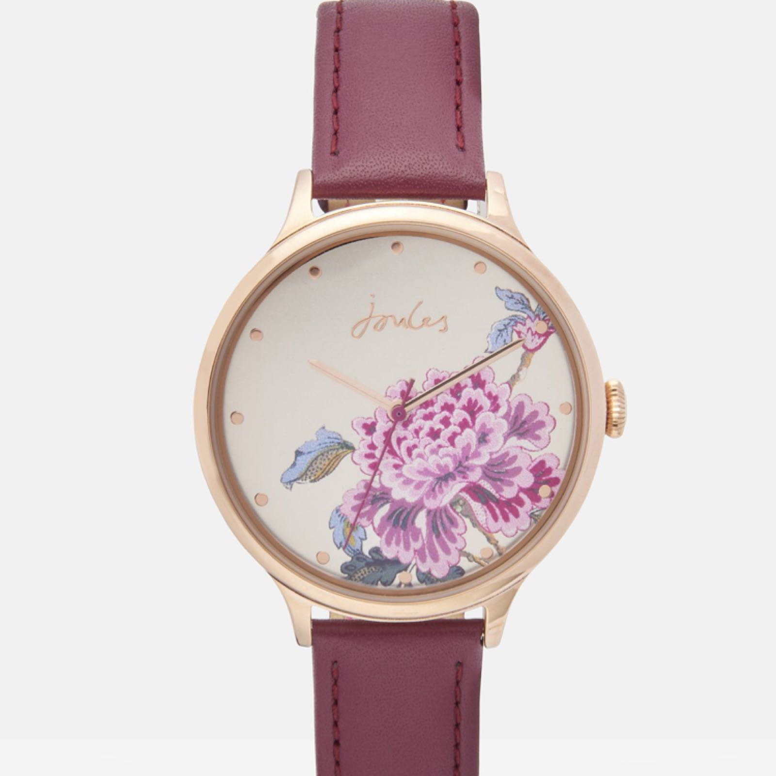 Joules Bloom ladies leather strap watch