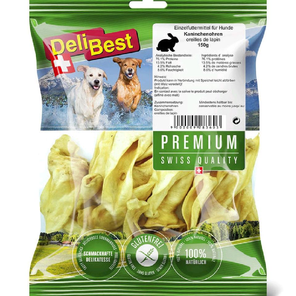 DeliBest Premium kaninører 80g