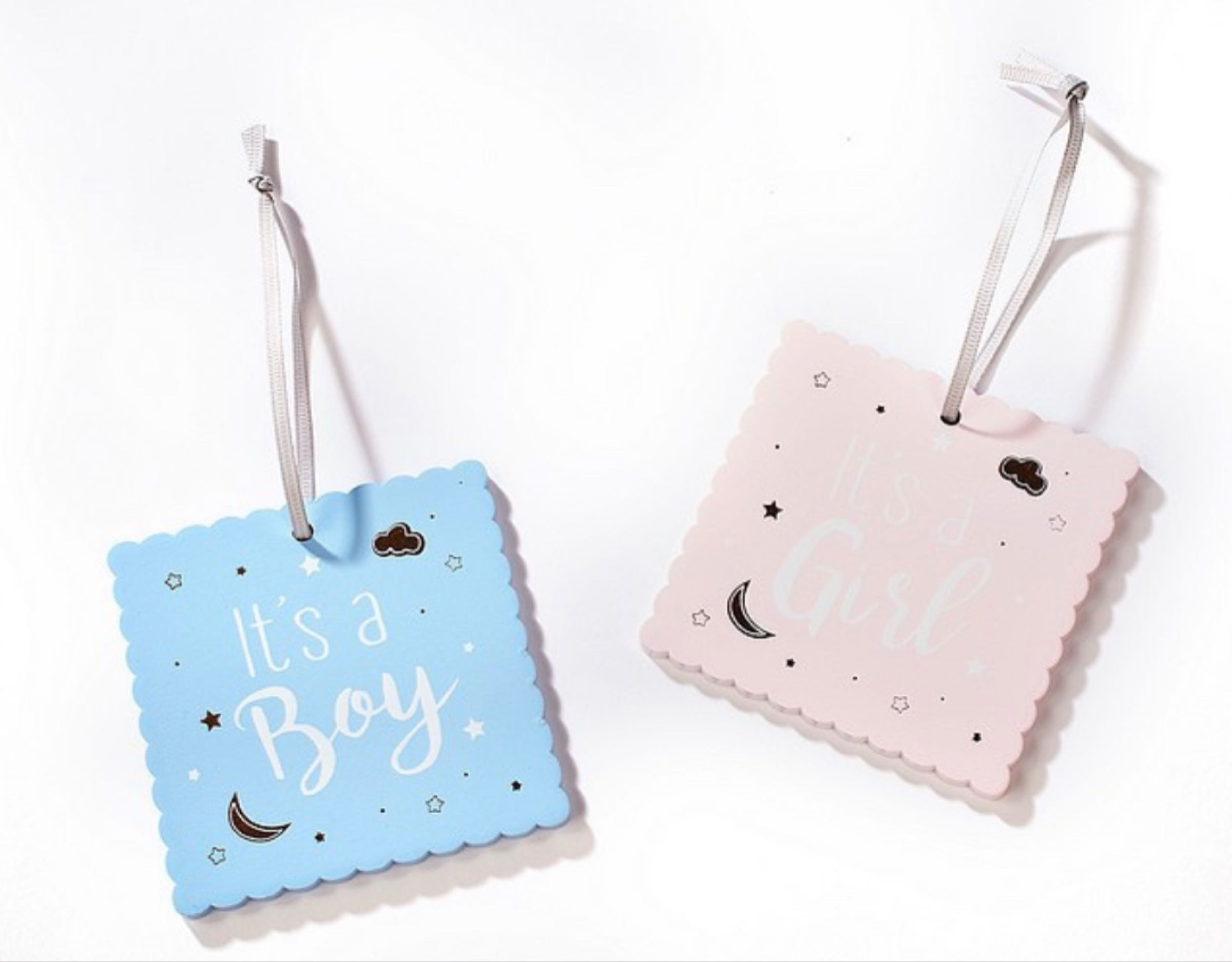 Wooden Baby Tag (can be personalised on the reverse)