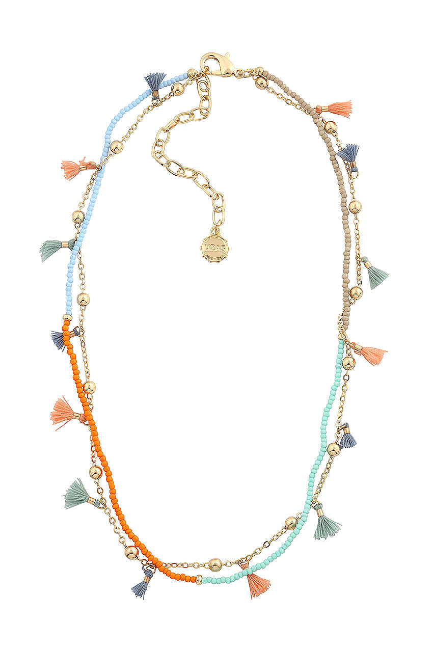 Halskette mit bunten Mini-Tasseln