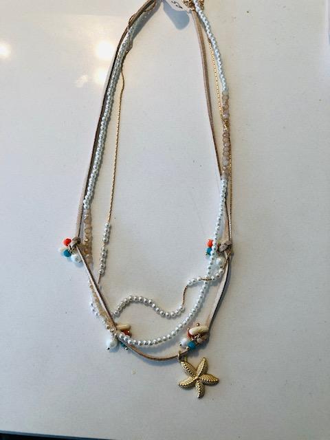 Sommerliche Halskette mit Seestern