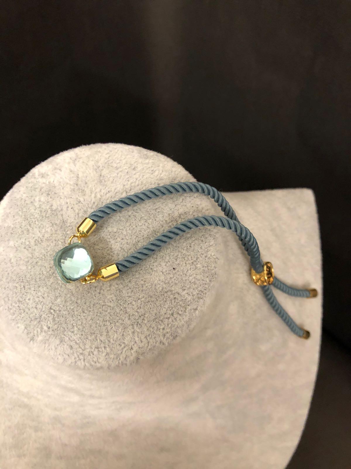SteenStoneCollection - Schnür-Armband vergoldet - verschiedene Farben