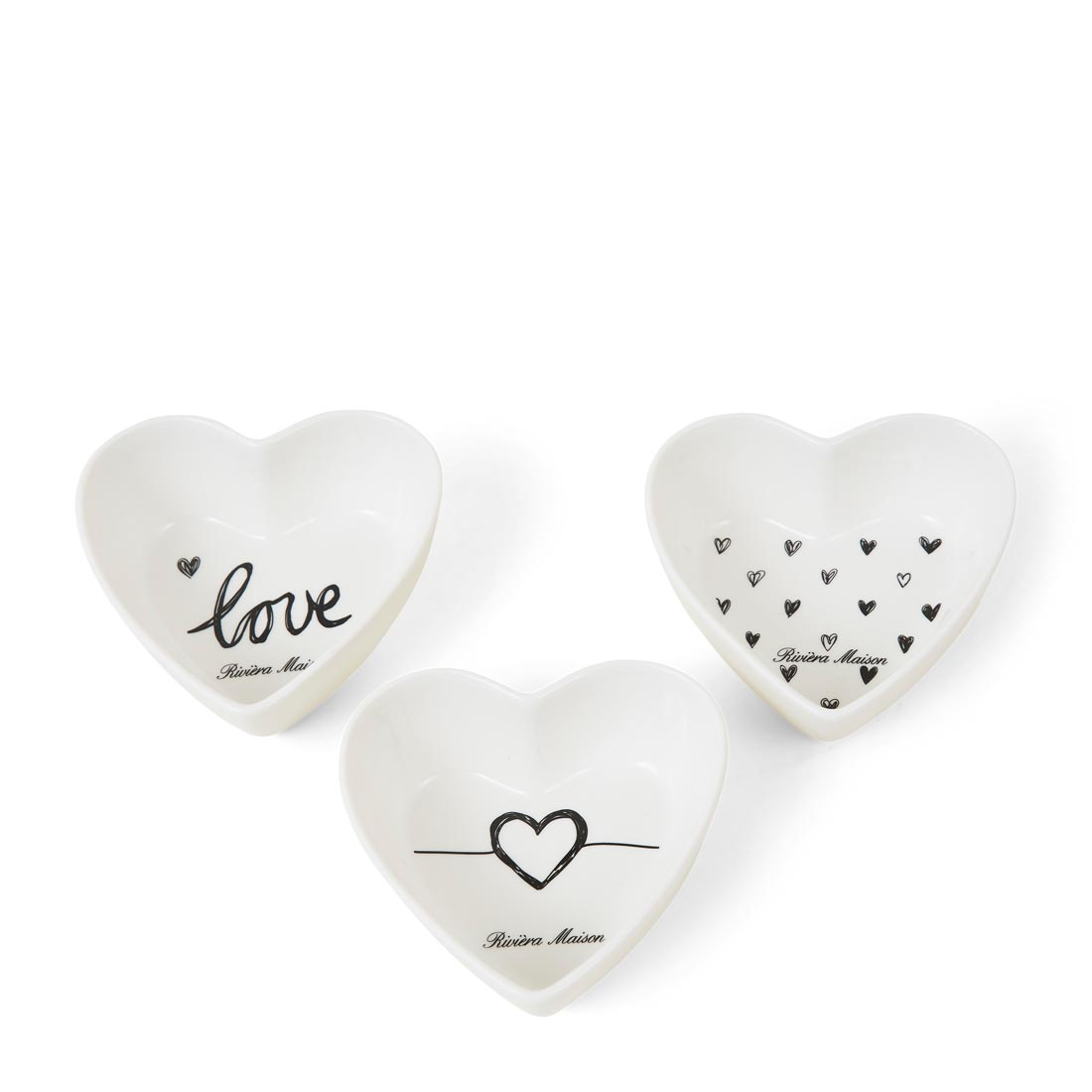 Lovely Hearts Schalen im 3-er Set