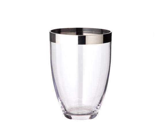 """Vase """"Charlotte"""", versilberter Rand, verschiedene Größen"""
