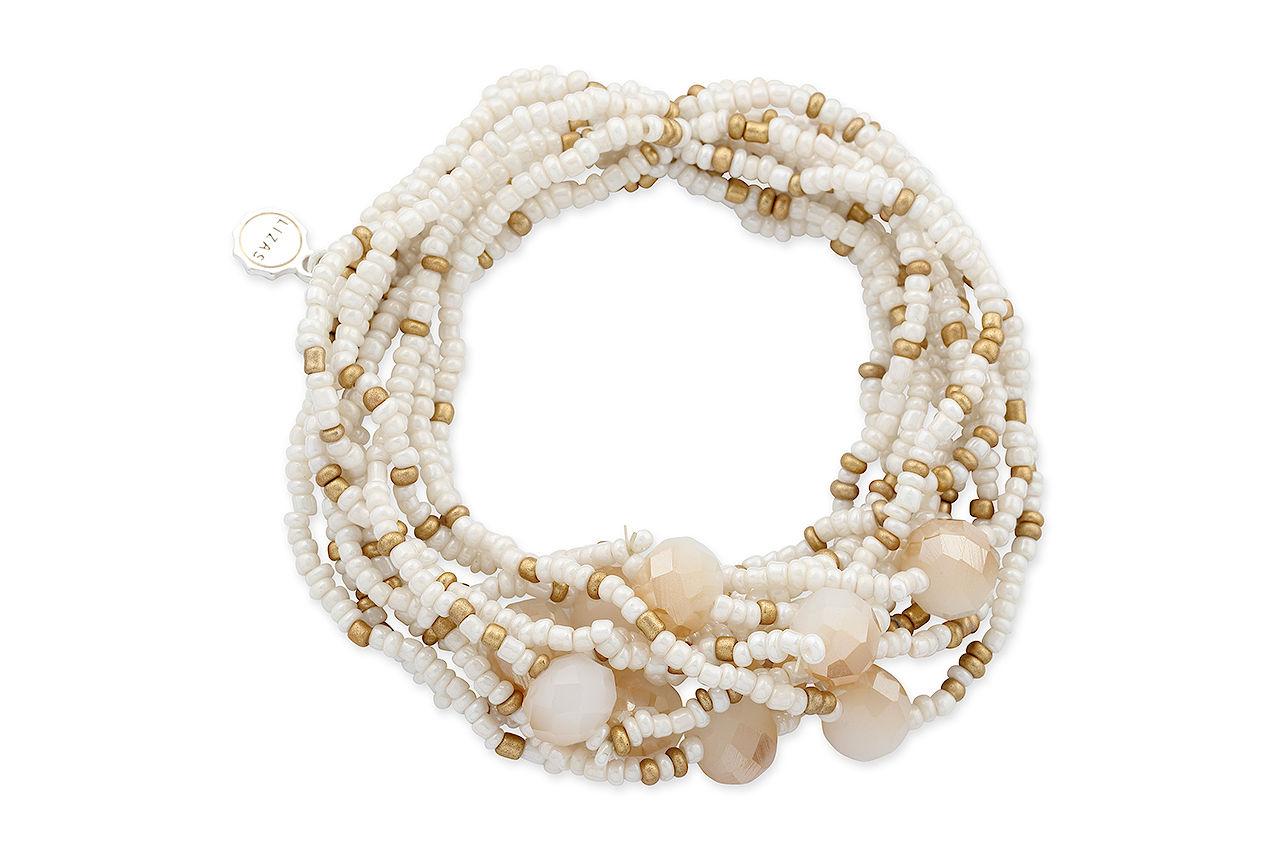 Sommerliches Perlenarmband