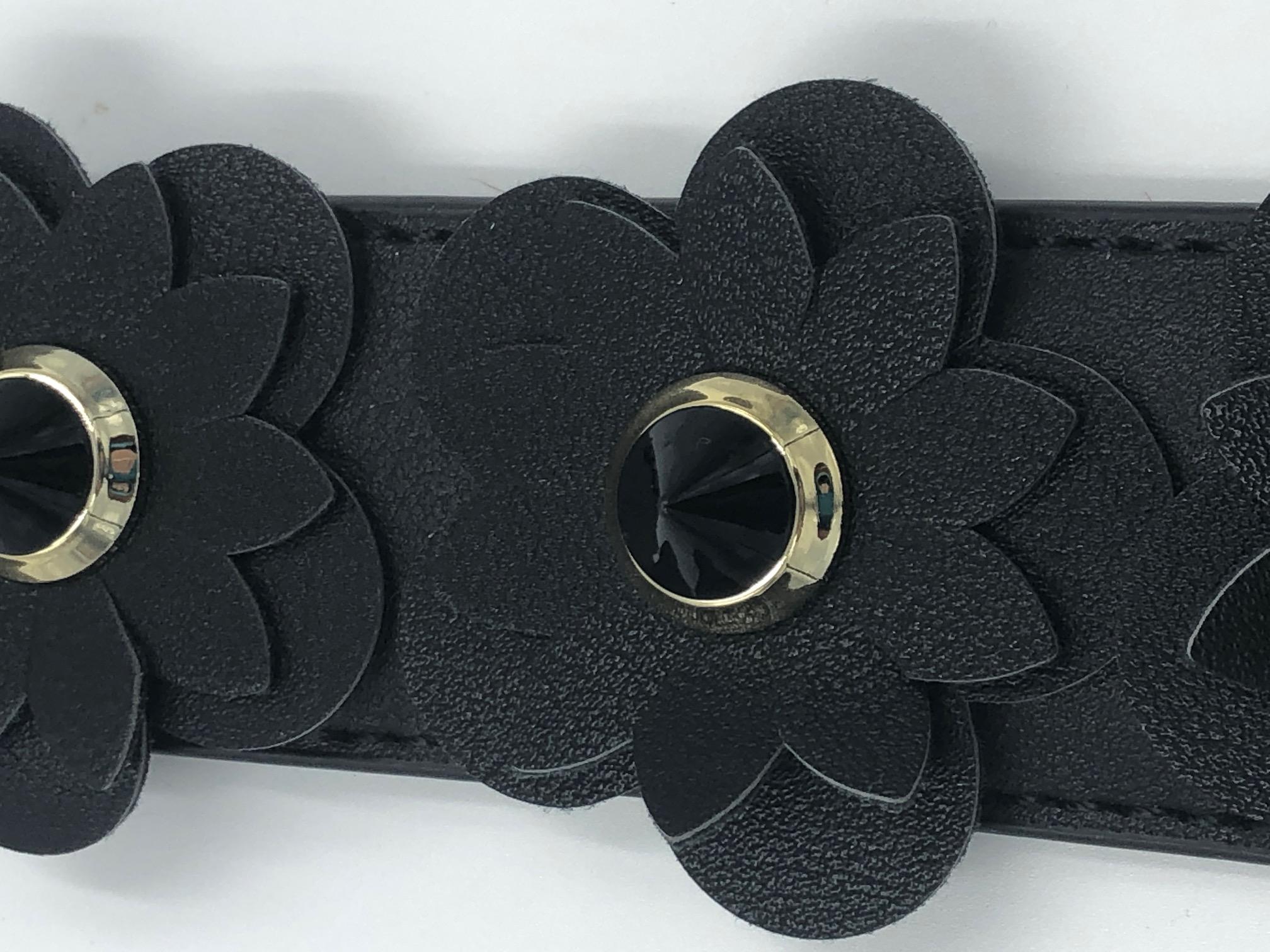 Echtleder Taschengurt bzw. Schulter-, Tragegurt für Damenhandtasche Blume