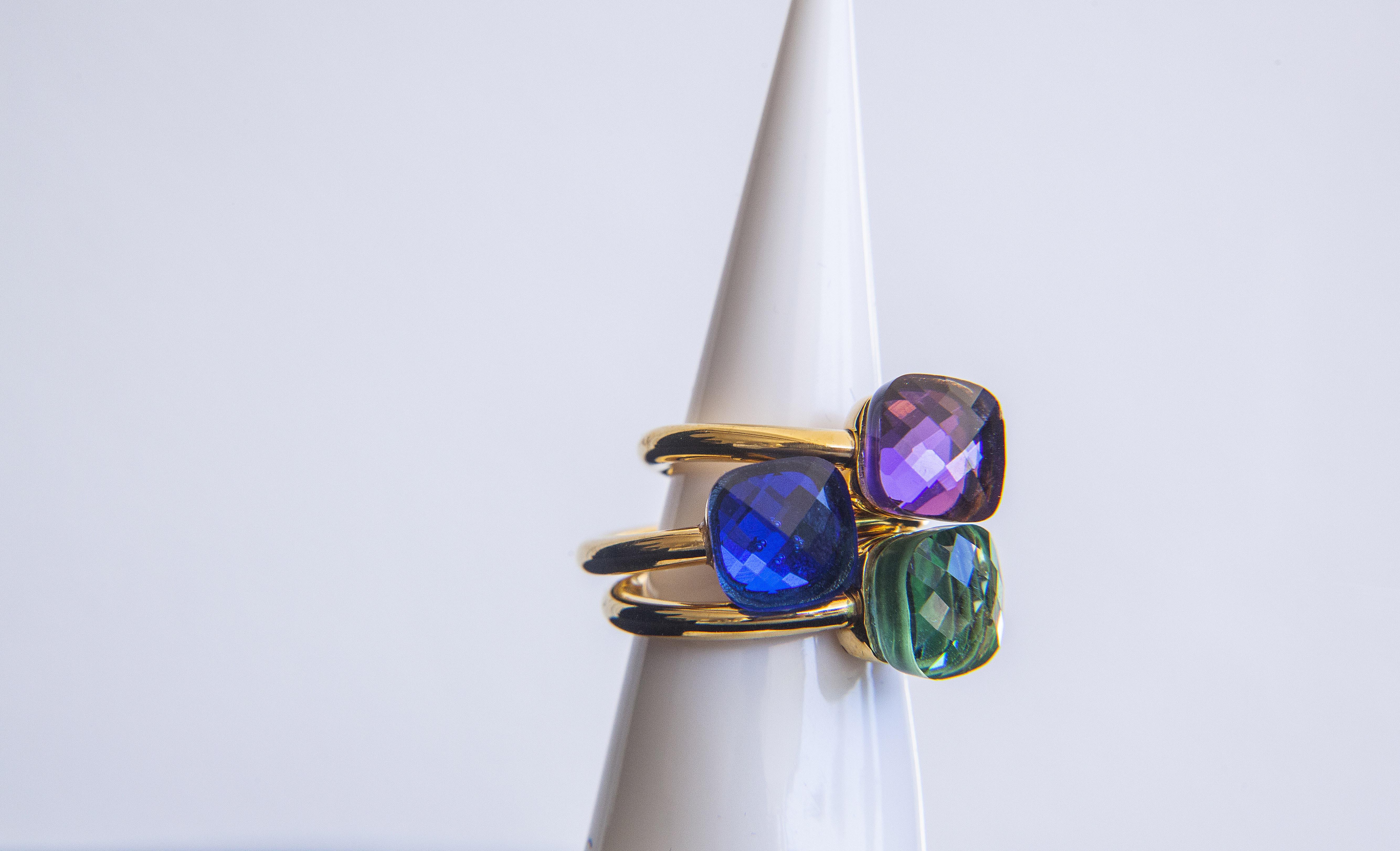 Bestseller: SteenStoneCollection - Ring vergoldet verschiedene Farben, M, L, XL, XXL