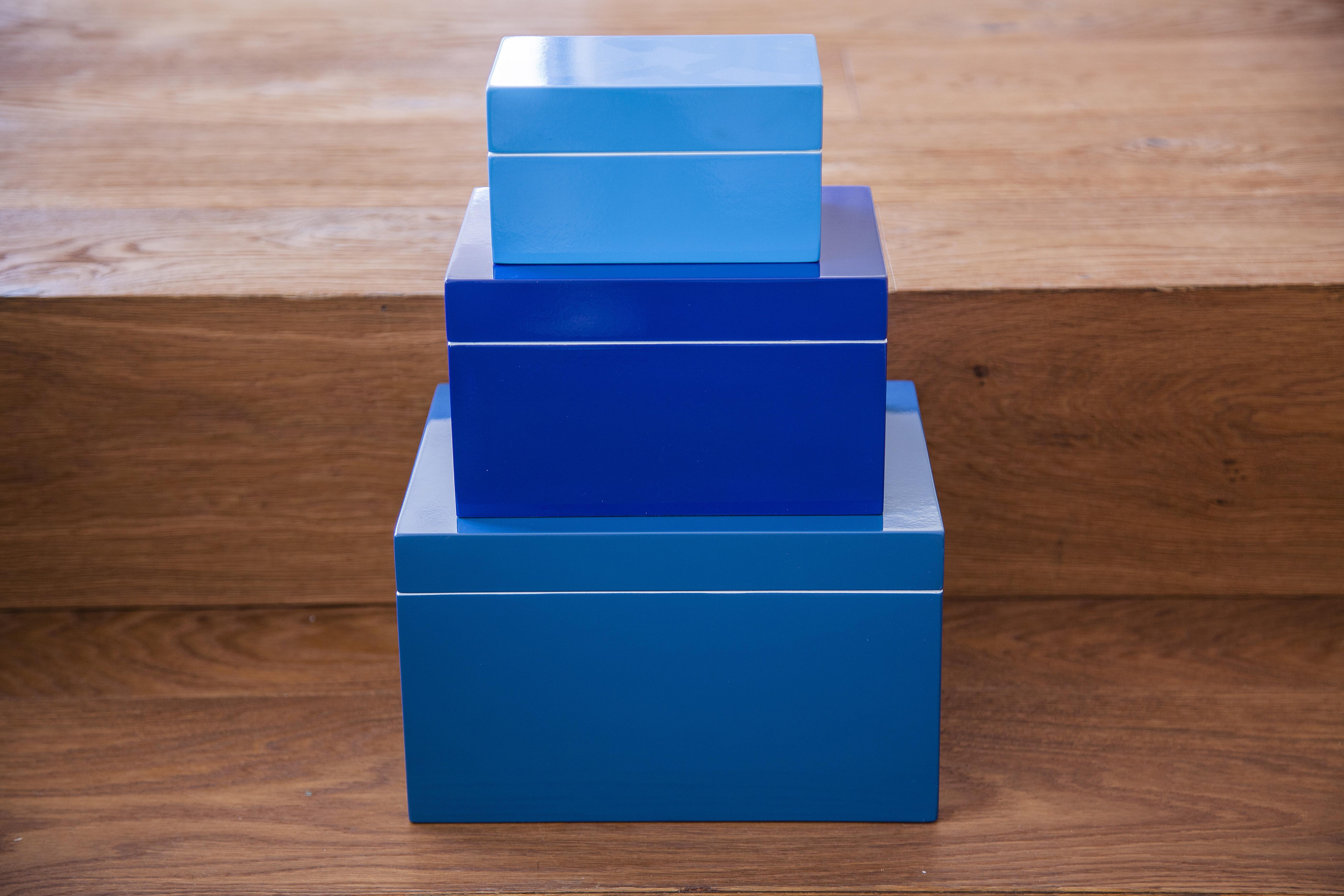 Lackboxen Blautöne - einzeln oder als Set ab 19 €