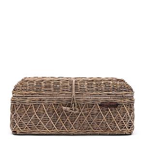 Brotaufbewahrungsbox aus Rattan