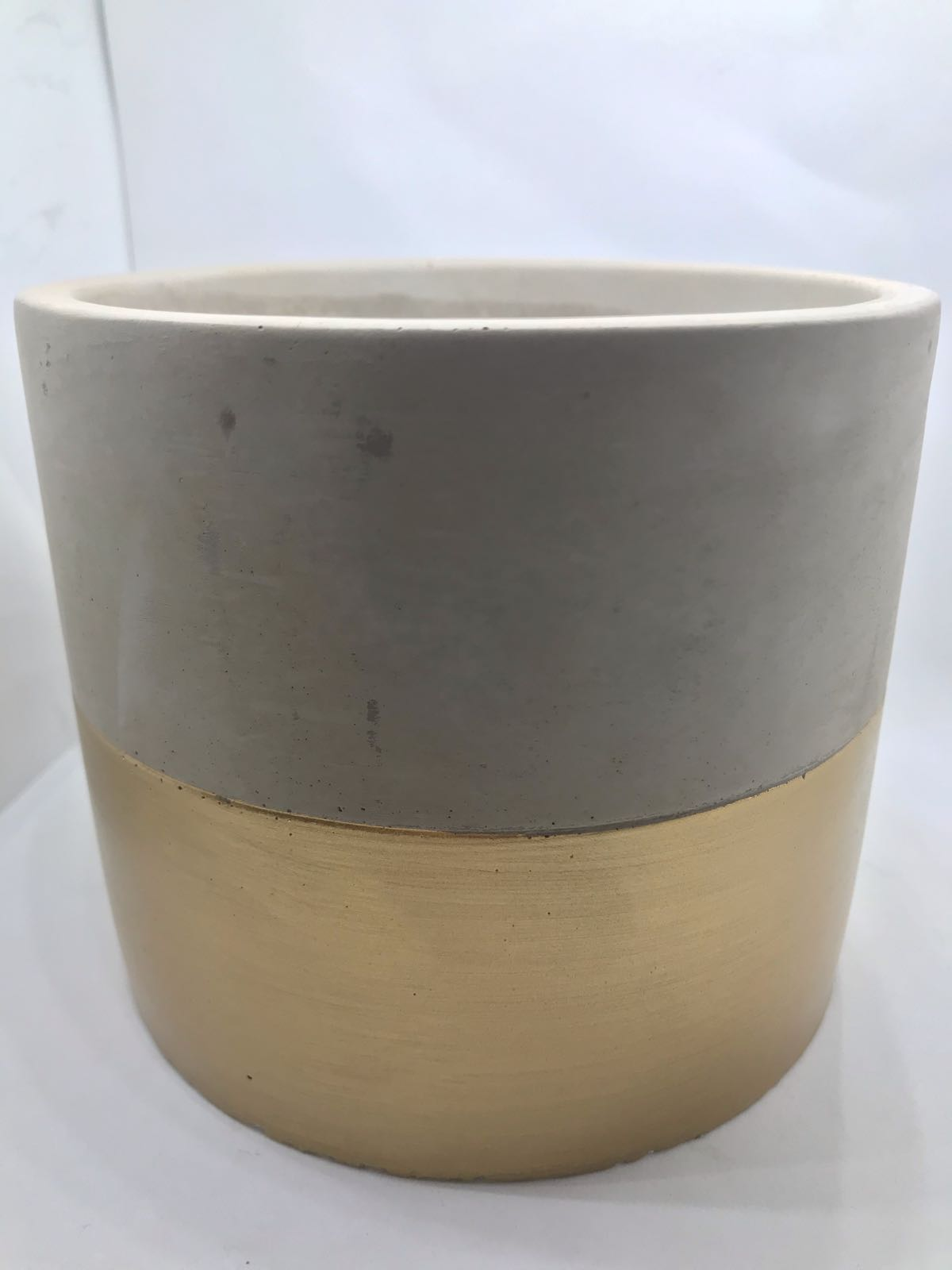 Gold dipped cement planter