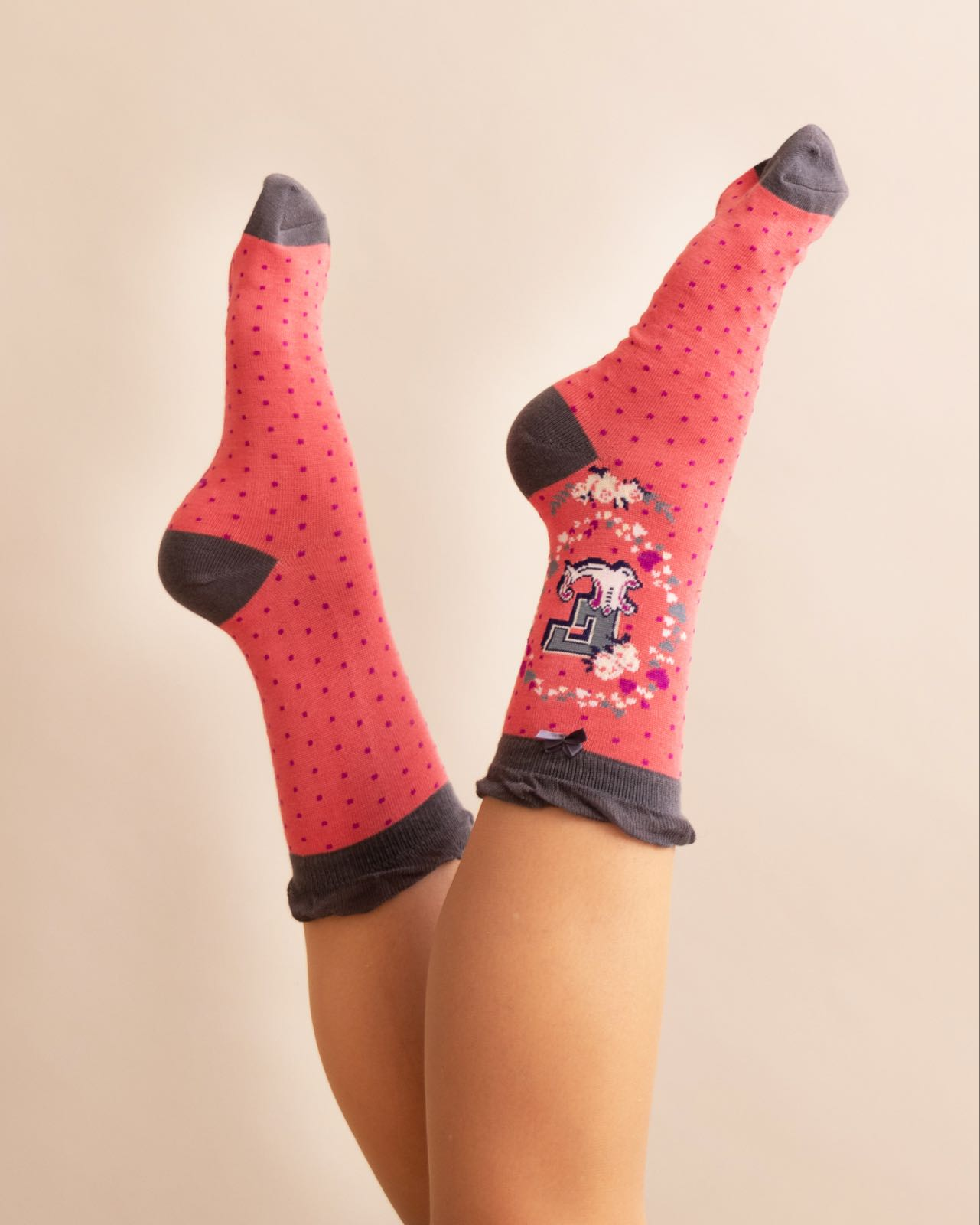 Powder Alphabet socks E (product may differ from item shown in the photo)