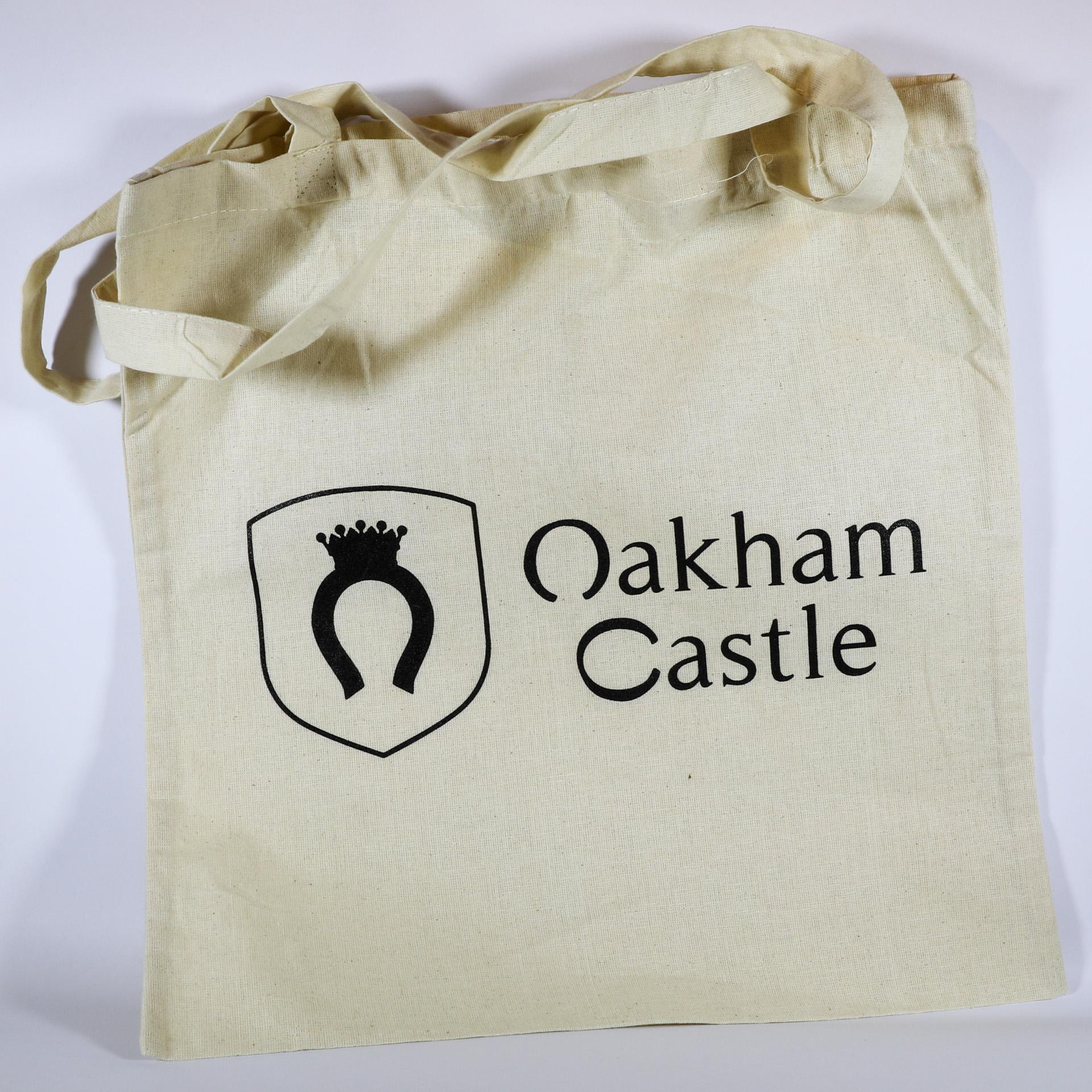 Oakham Castle logo tote bag