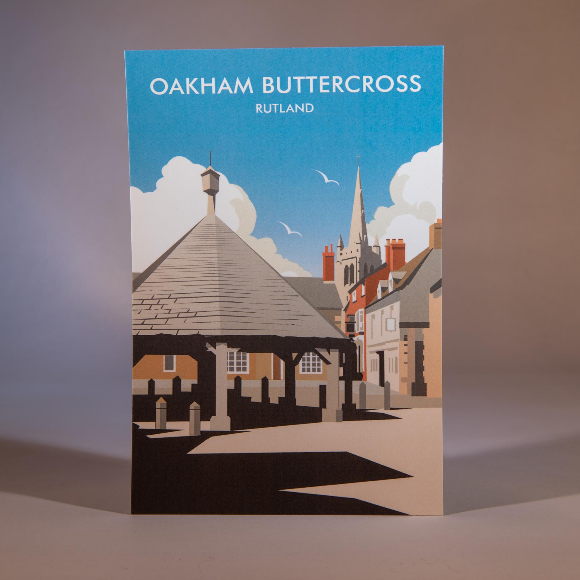 Oakham Buttercross Postcard