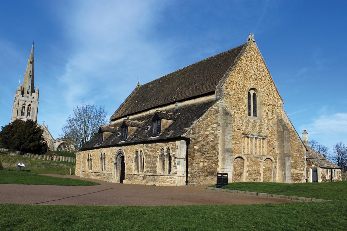Oakham Castle an All Saints Church postcard