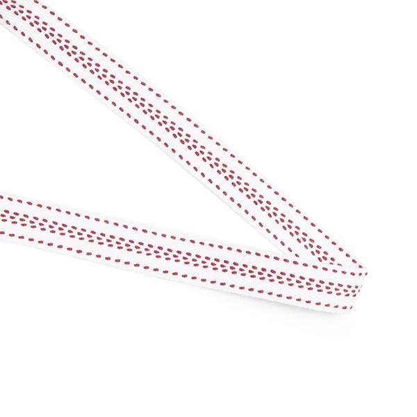 Shyness bomullsband 14 mm röd