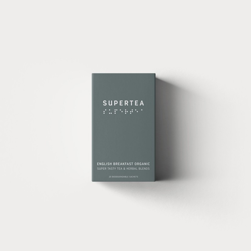 Supertea organic - english breakfast i portionspåsar