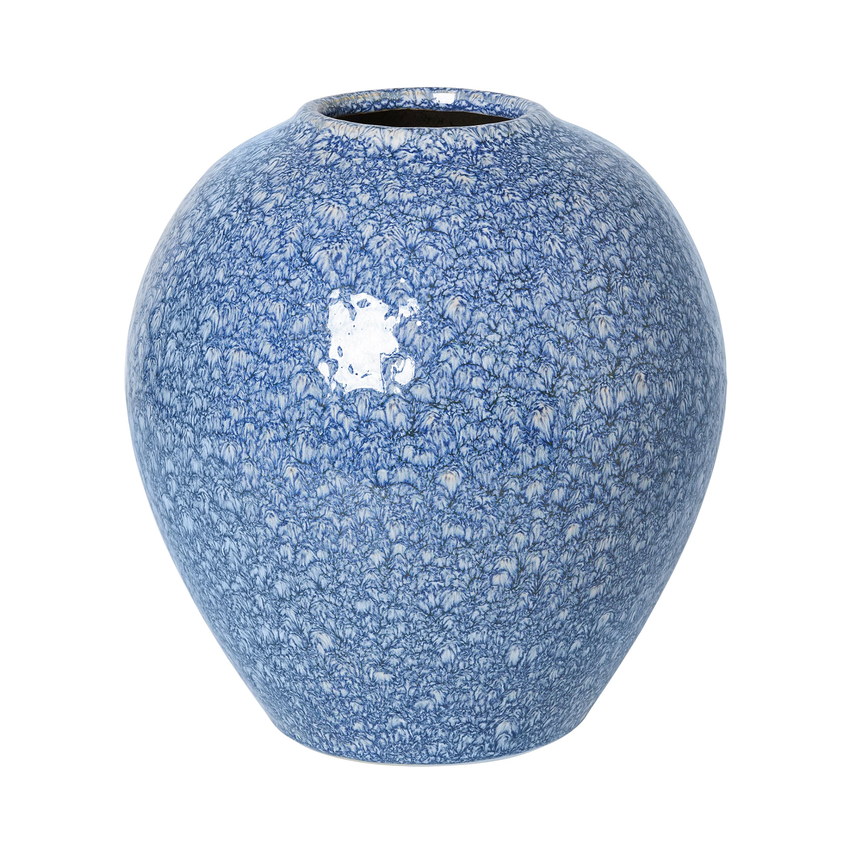 Broste Vas Ingrid keramik Insignia Blue/White ø24x25.5cm
