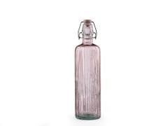 Bitz Vattenflaska i återvunnet glas 0,75 l, rosa