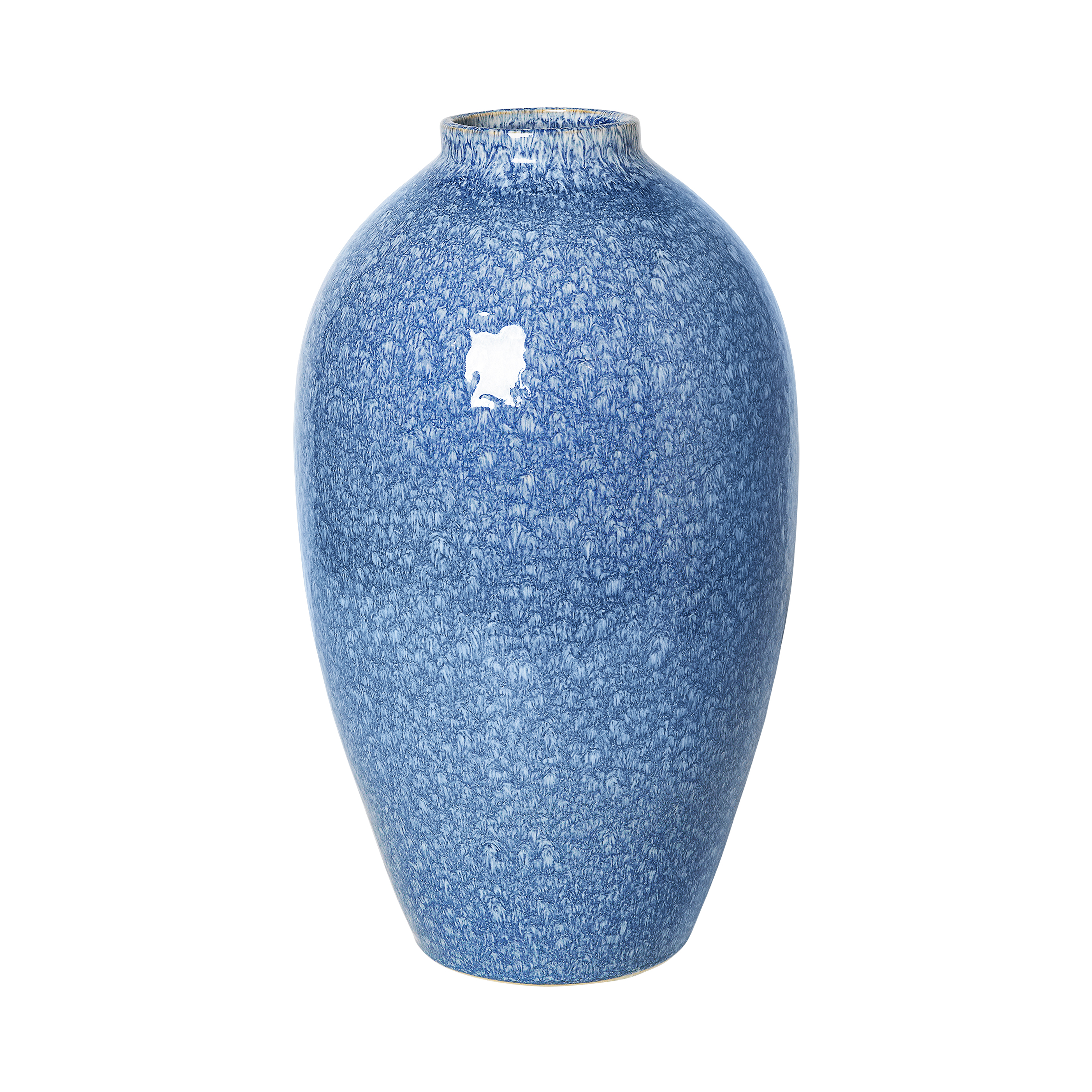 Broste Vas Ingrid keramik Insignia Blue/White ø23.5x40cm