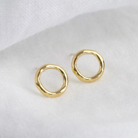Open Circle Gold Earrings